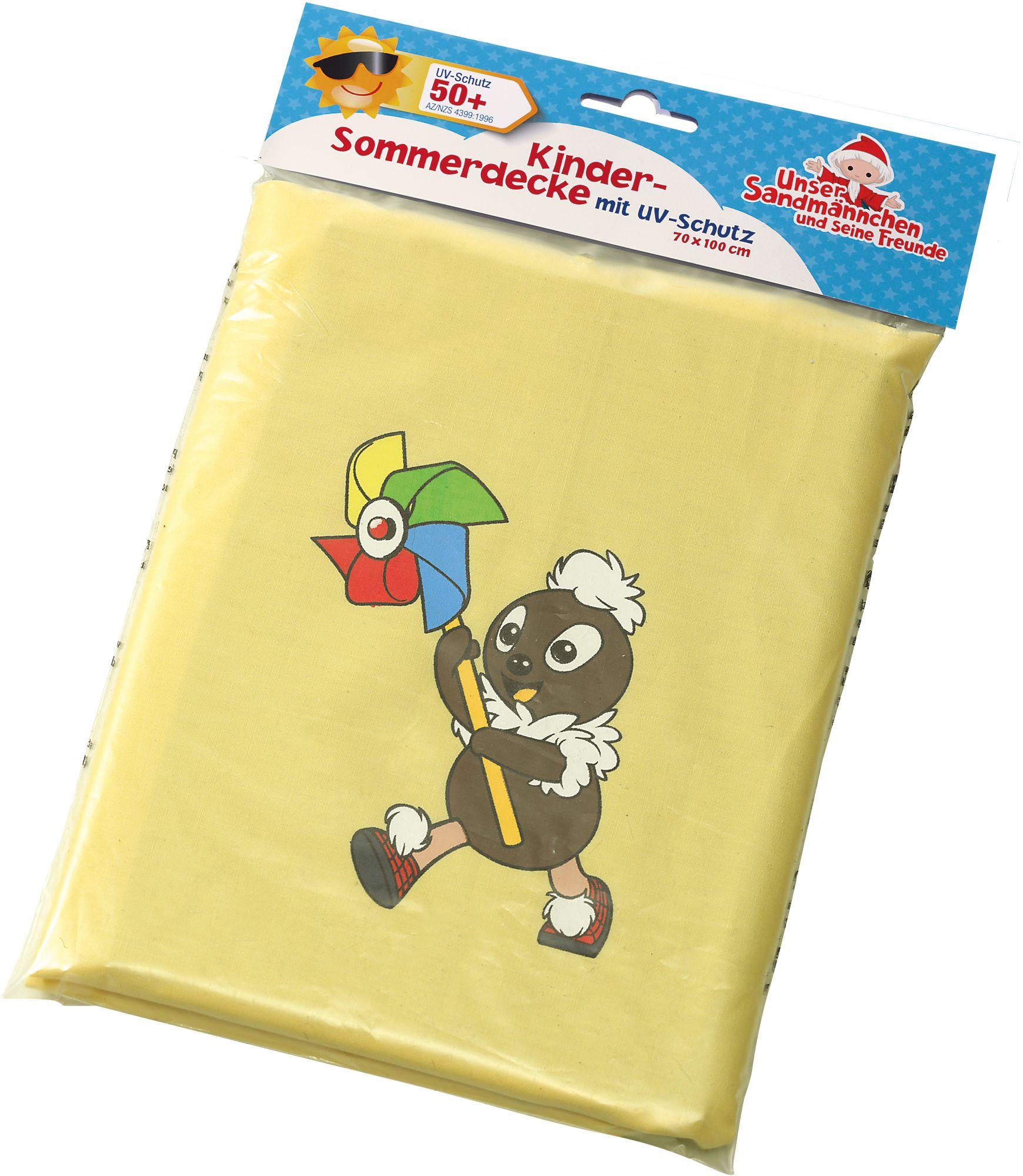HEUNEC Heunec Kinder Sommerdecke mit Pittiplatsch Motiv, »Sandmann Sonnenschutzdecke UV Schutz 50+«