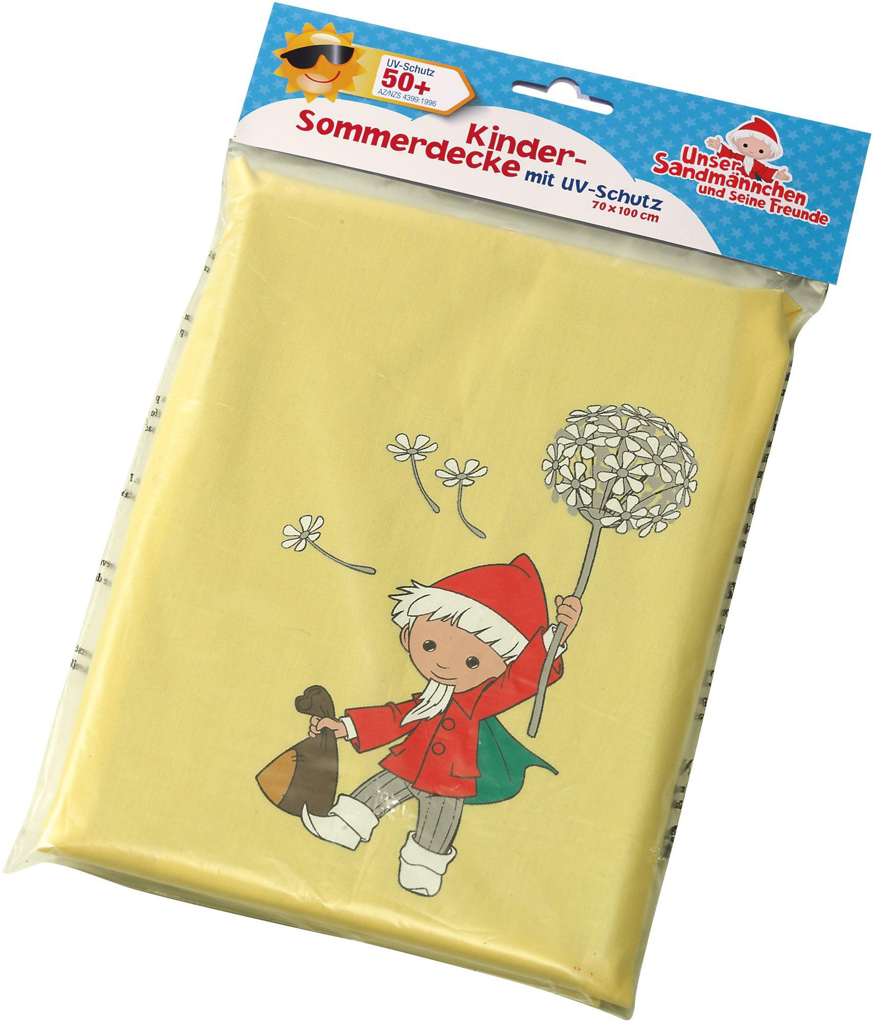 HEUNEC Heunec Kinder Sommerdecke mit Sandmann Motiv, »Sandmann Sonnenschutzdecke UV Schutz 50+«