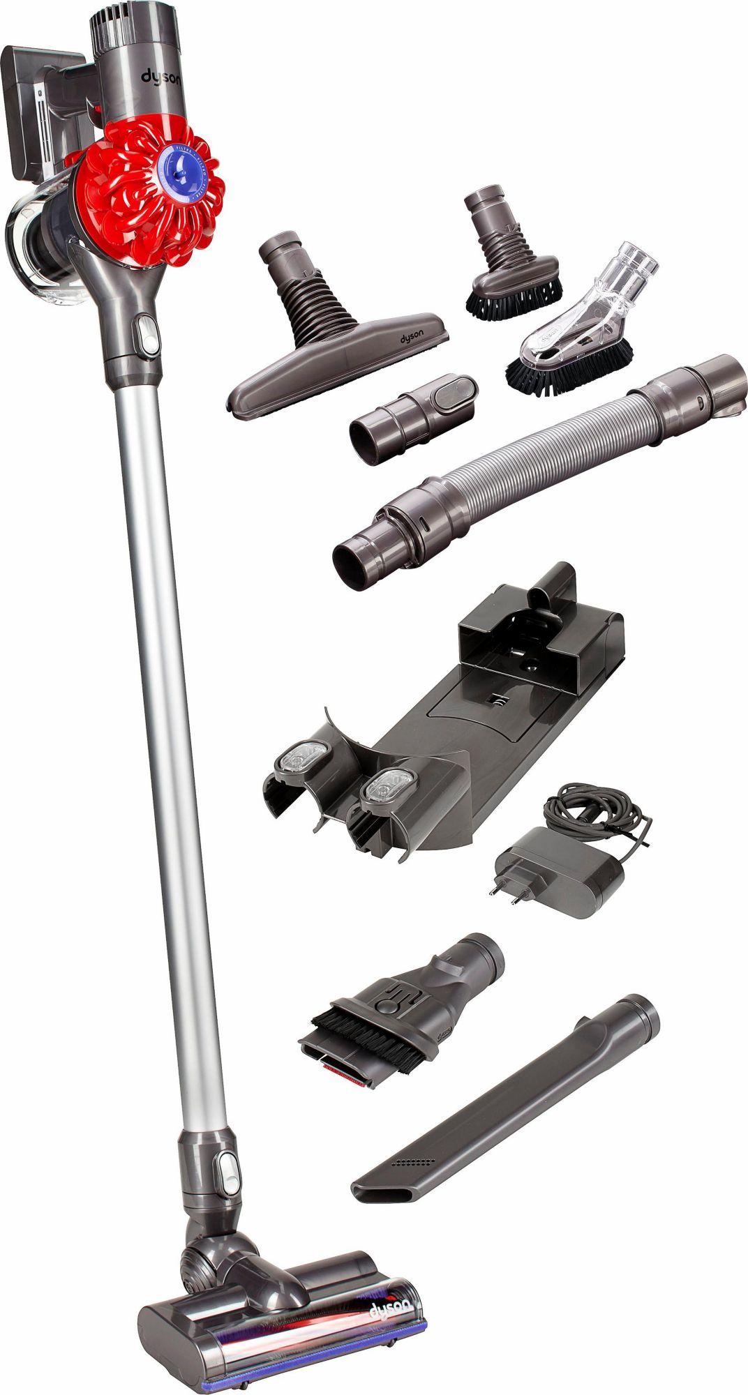 DYSON Dyson Akkusauger DC62 Full Kit (DC62 + Akkusauger-Set), beutellos, iron-rot