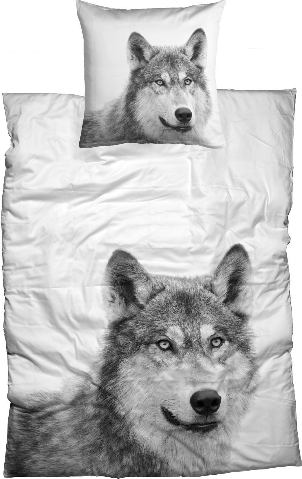 CASATEX Bettwäsche, Casatex, »Husky«, mit Tier-Portrait