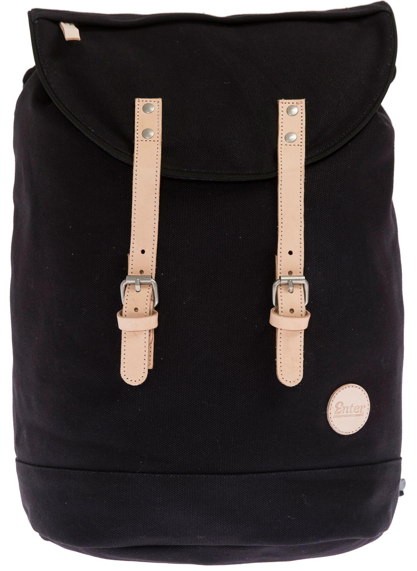 ENTER Enter Rucksack, »Day Hiker Backpack, Black/ Natural Leather«