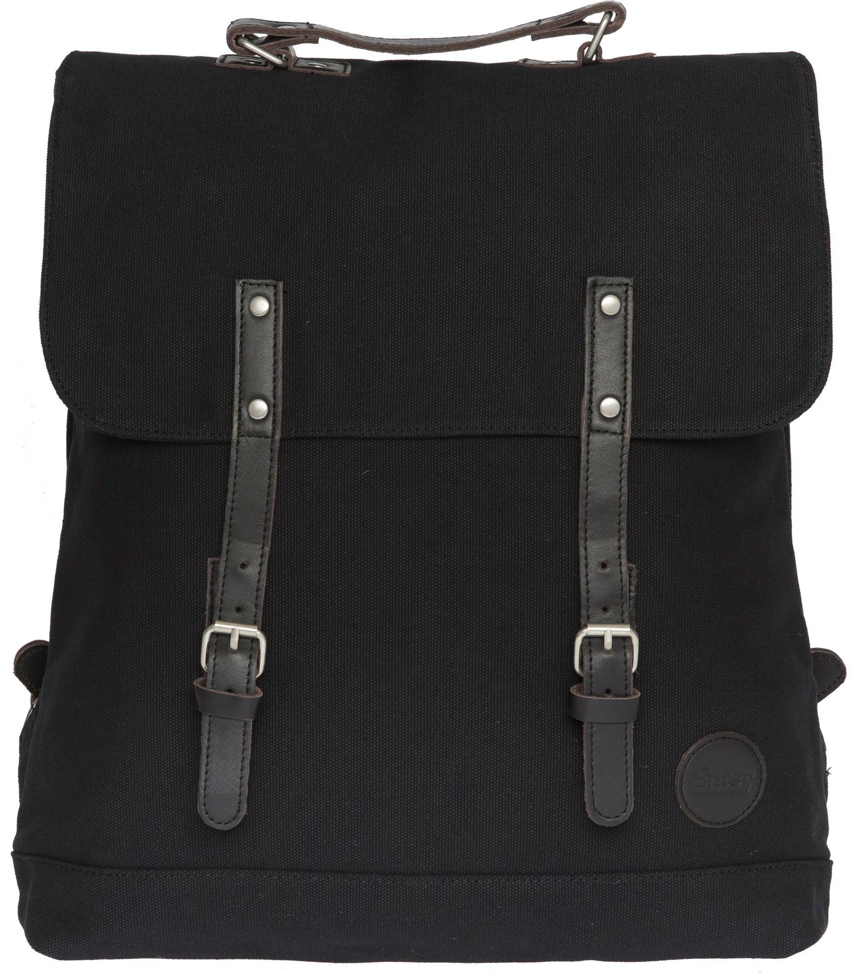 ENTER Enter Rucksack, »Backpack,  Black/Dark Brown Leather«