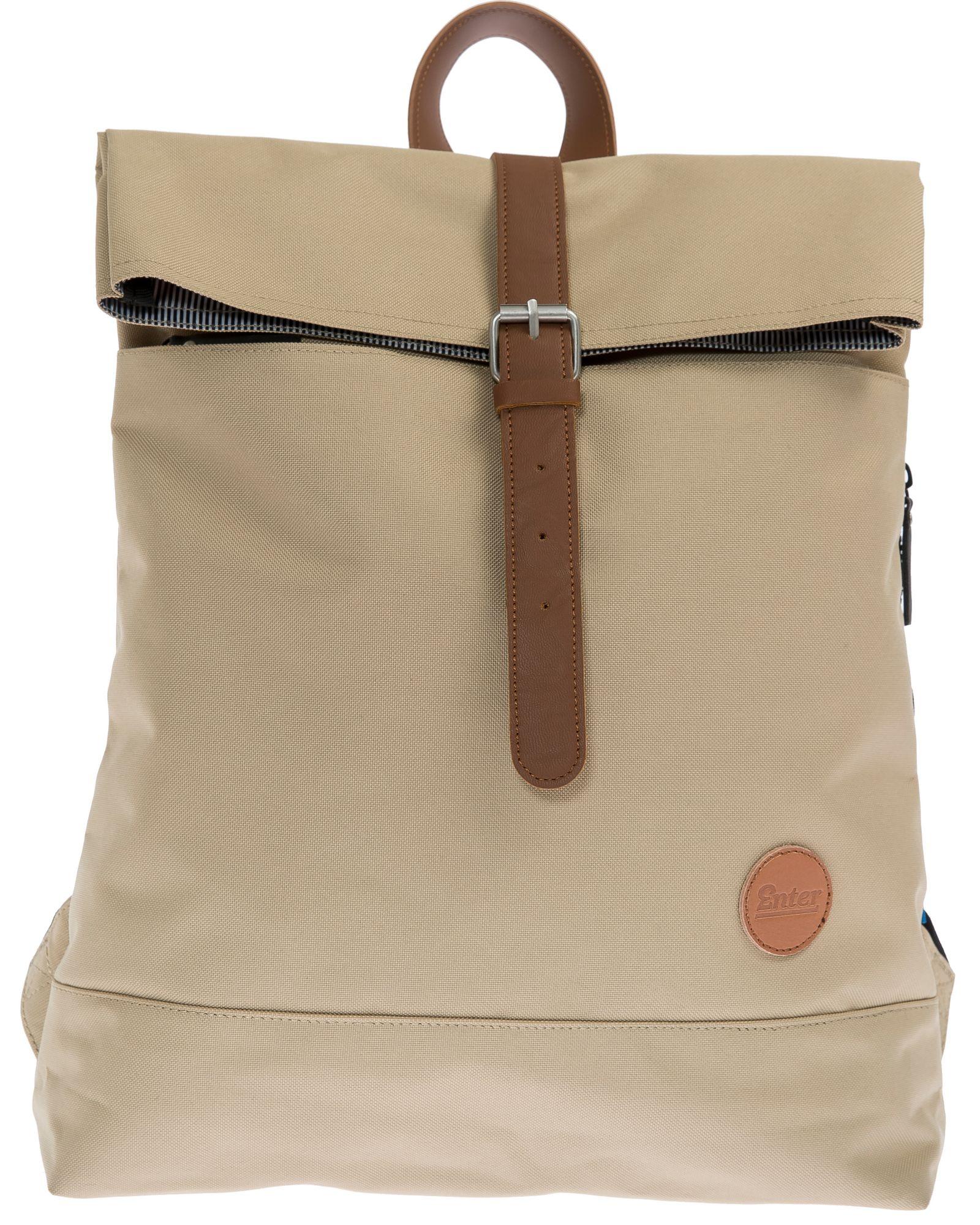 ENTER Enter Rucksack, »Fold Top Backpack, Khaki«