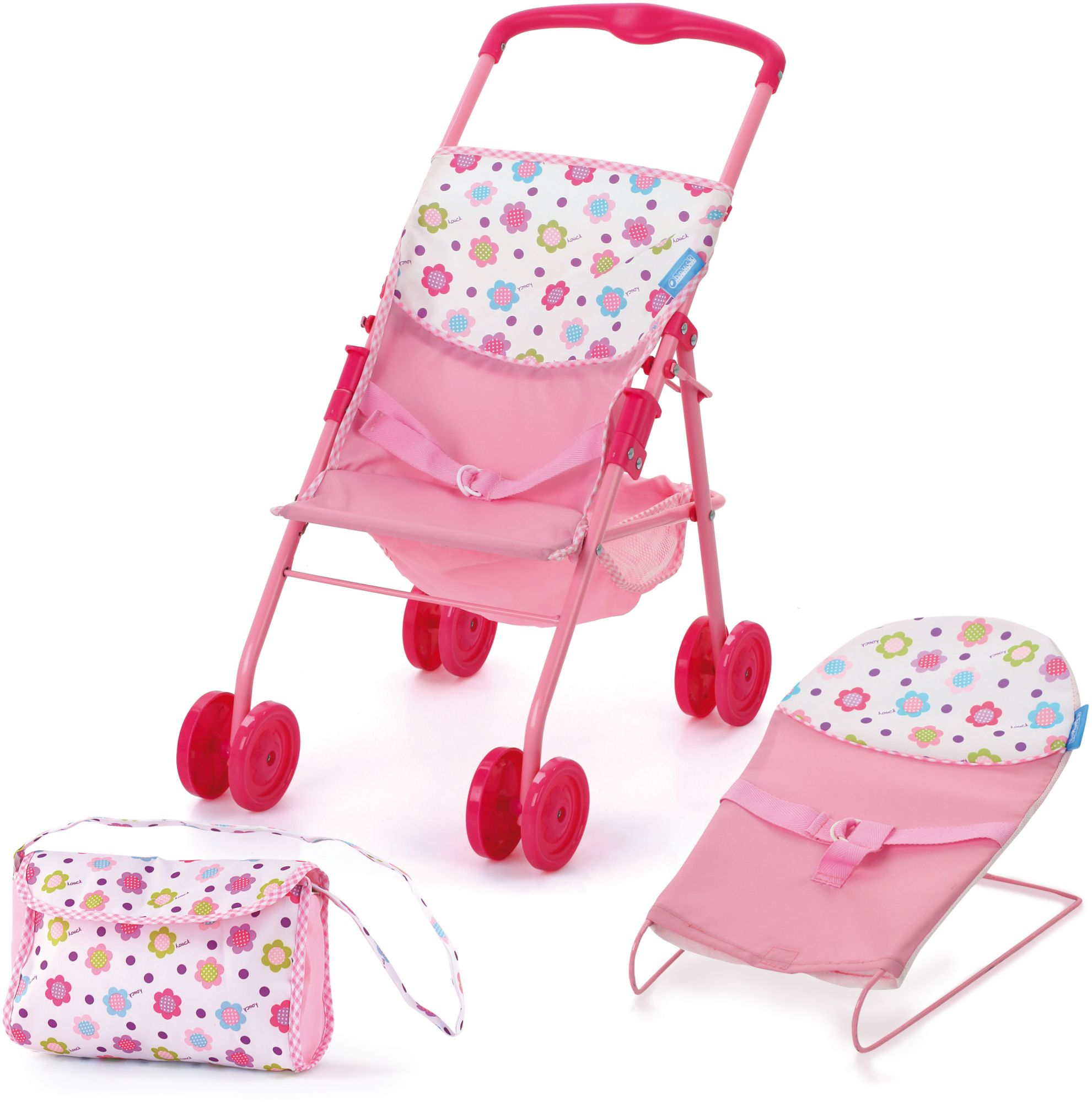 HAUCK TOYS FOR KIDS hauck TOYS FOR KIDS Puppen-Set 3tlg., »Travel and Care Set, Sping Pink«
