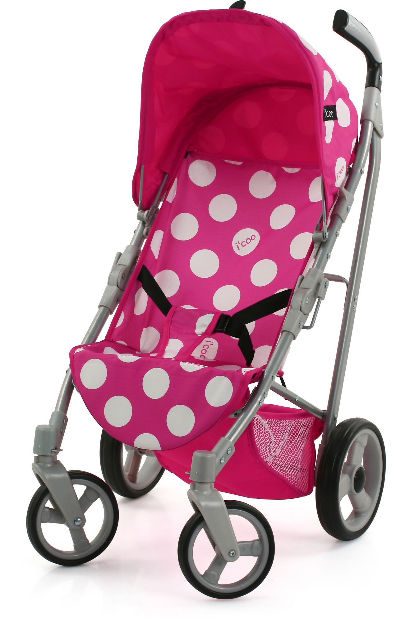 HAUCK TOYS FOR KIDS hauck TOYS FOR KIDS Puppenbuggy, »i'coo Pluto, Dotty Pink«