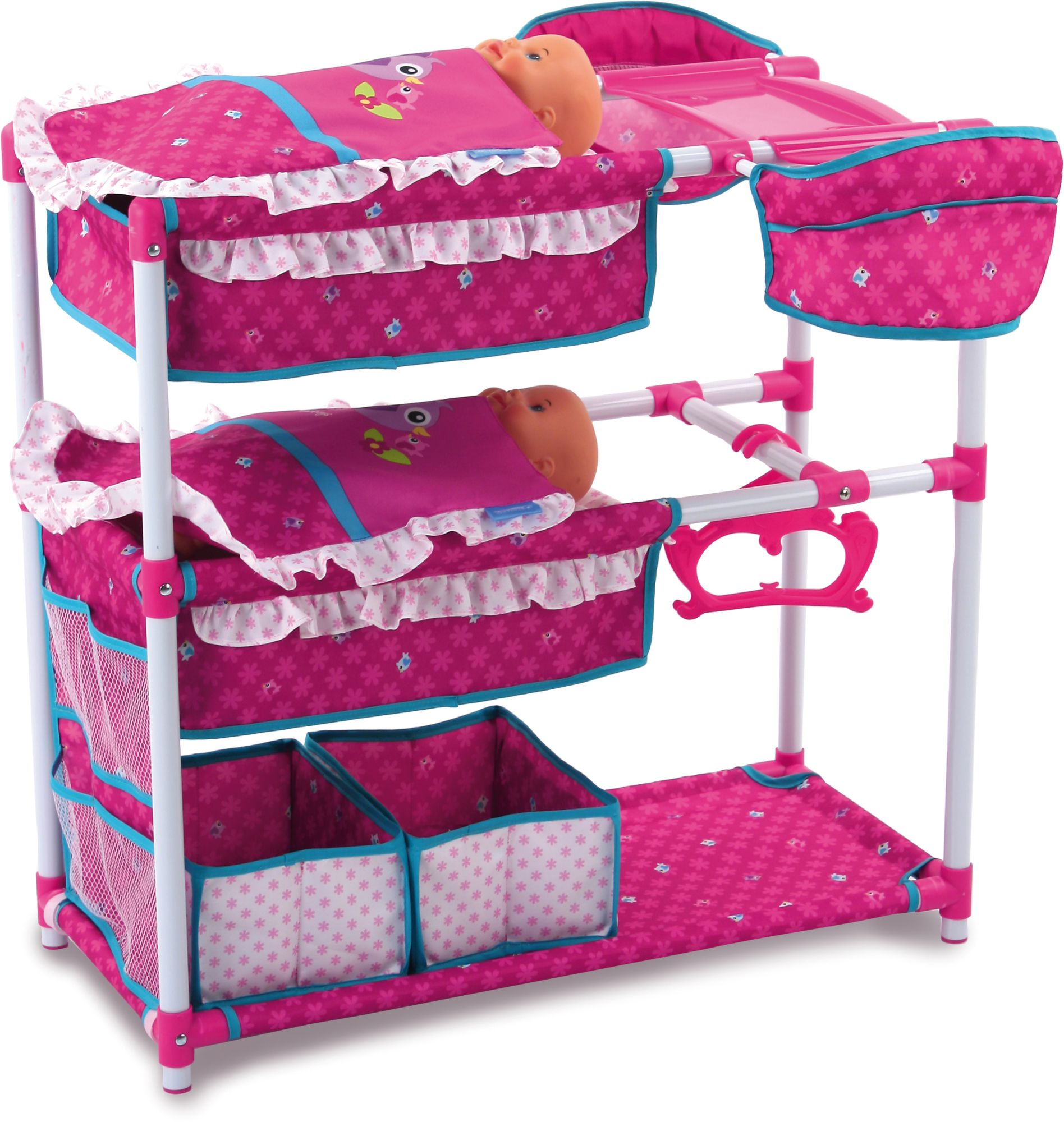 HAUCK TOYS FOR KIDS hauck TOYS FOR KIDS Puppenspielstation, »Twin Doll Station, Birdie Pink«