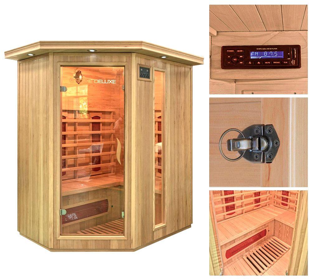 HOME DELUXE  Infrarotkabine »Redsun XL«, 155/120/190 cm, 40 mm, für bis zu 3 Personen