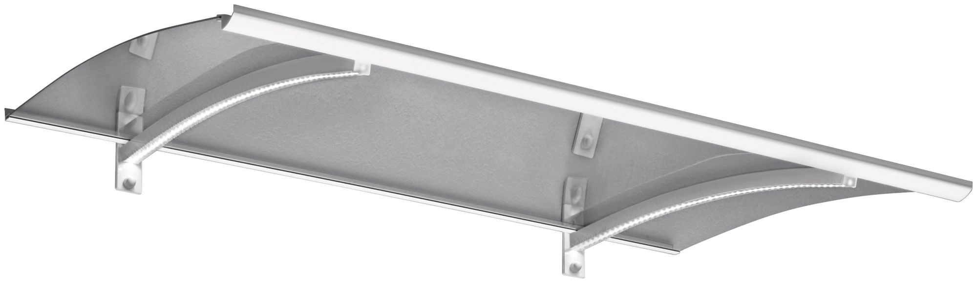 GUTTA Bogenvordach »LED-Technik«, 150x90x25 cm, weiß-transparent