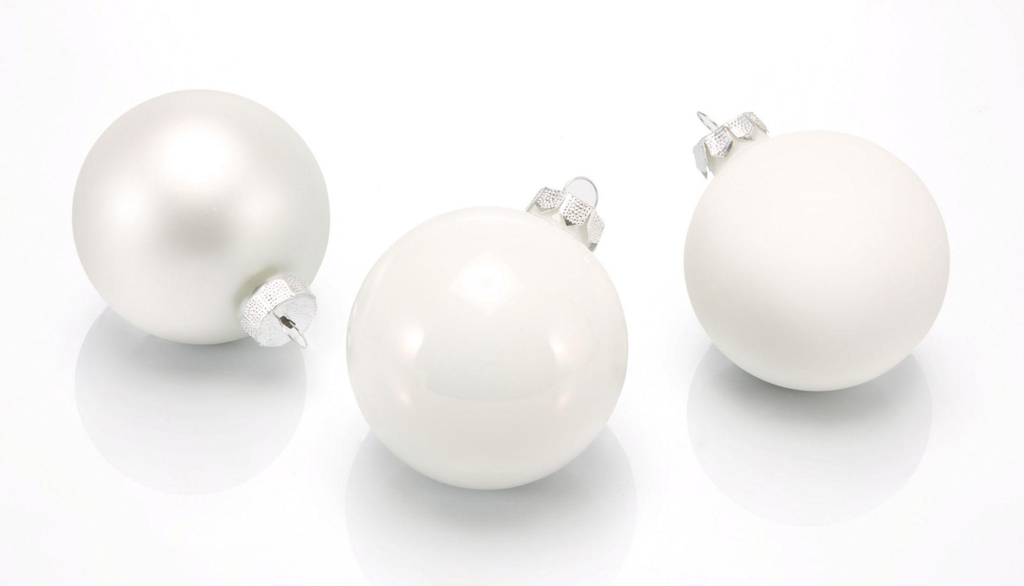 INGES CHRISTMAS DECOR Inge´s Christmas Decor Glaskugelsortiment, »Magic - Just White«