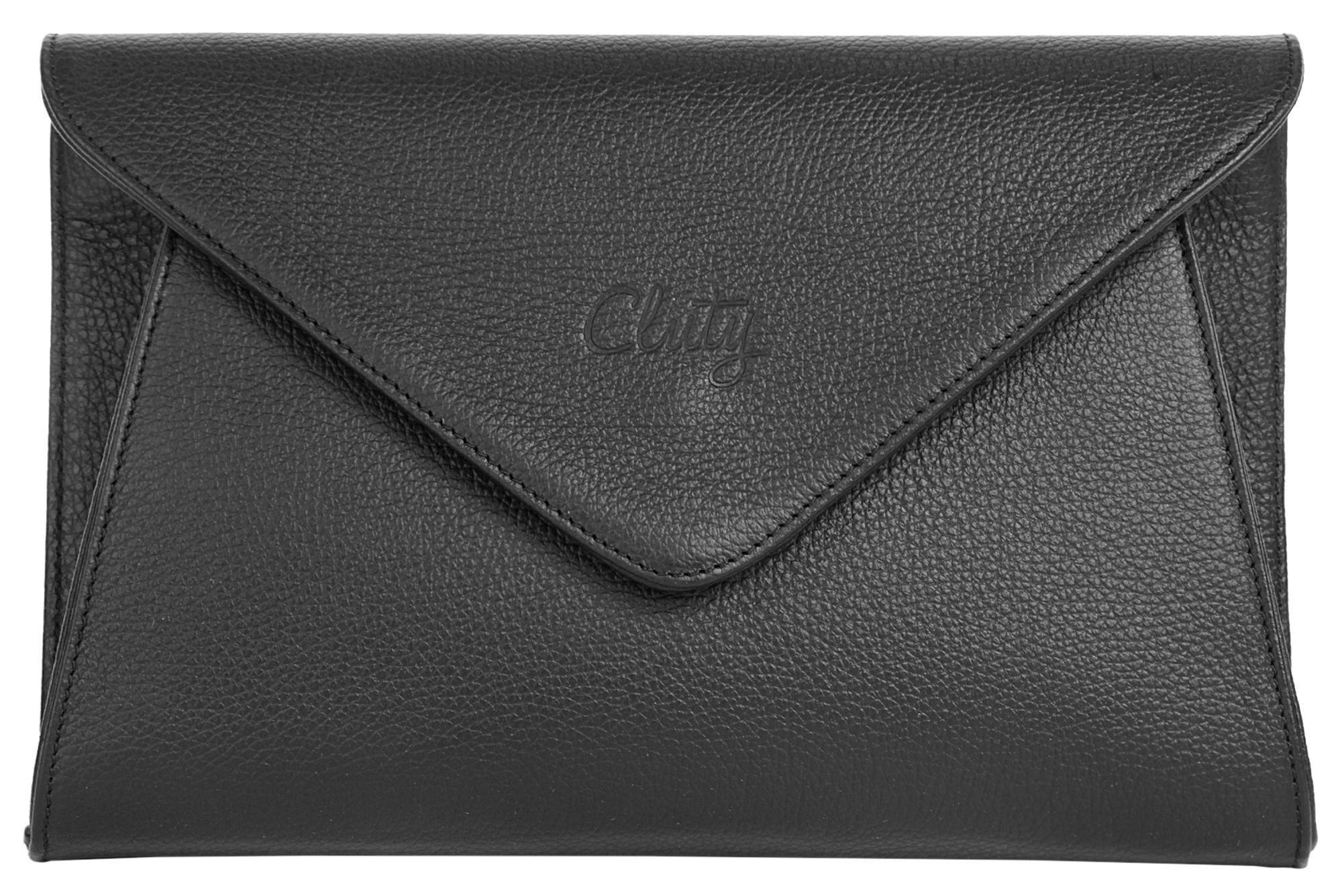 CLUTY Cluty Leder Damen Abendtasche/Clutch