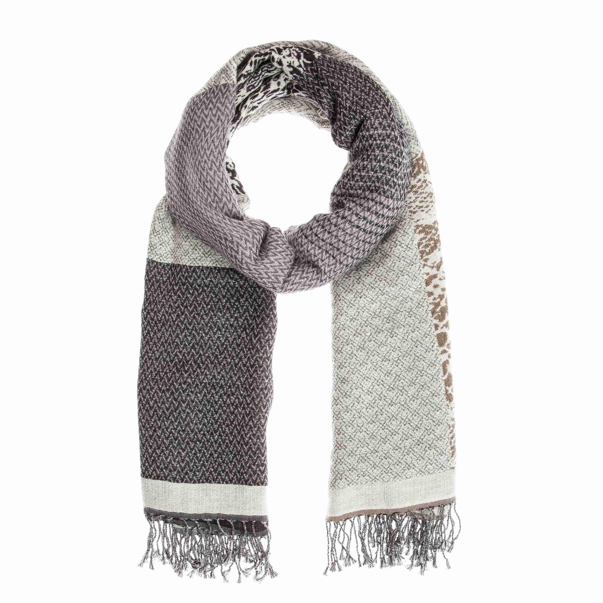 CODELLO  Woll-Schal mit Web-Muster