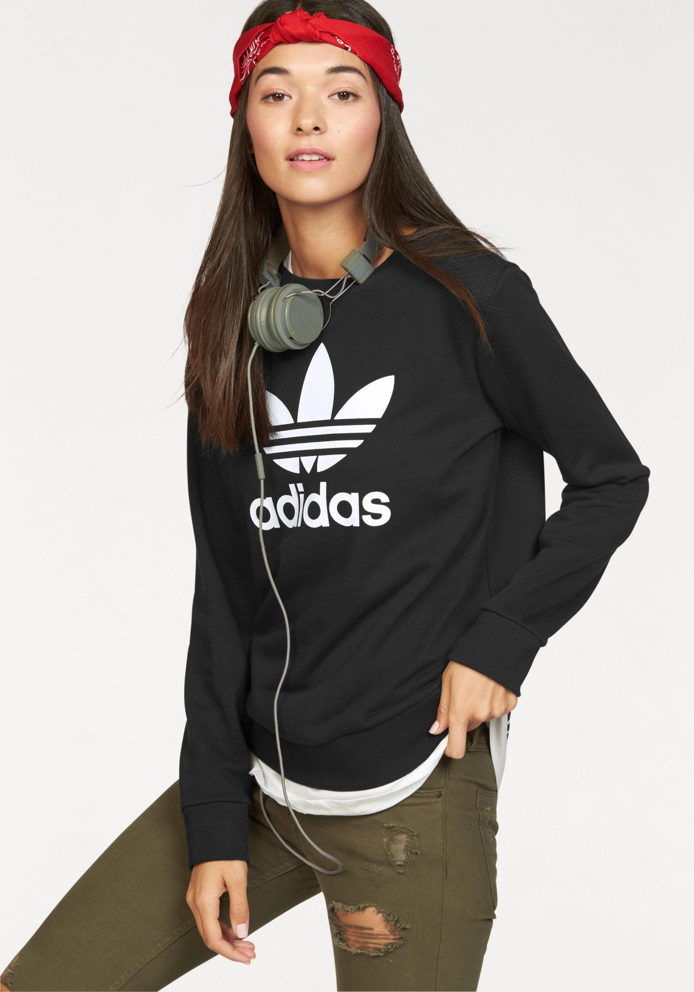 ADIDAS ORIGINALS adidas Originals Sweatshirt »TREFOIL CREW SWEATER«