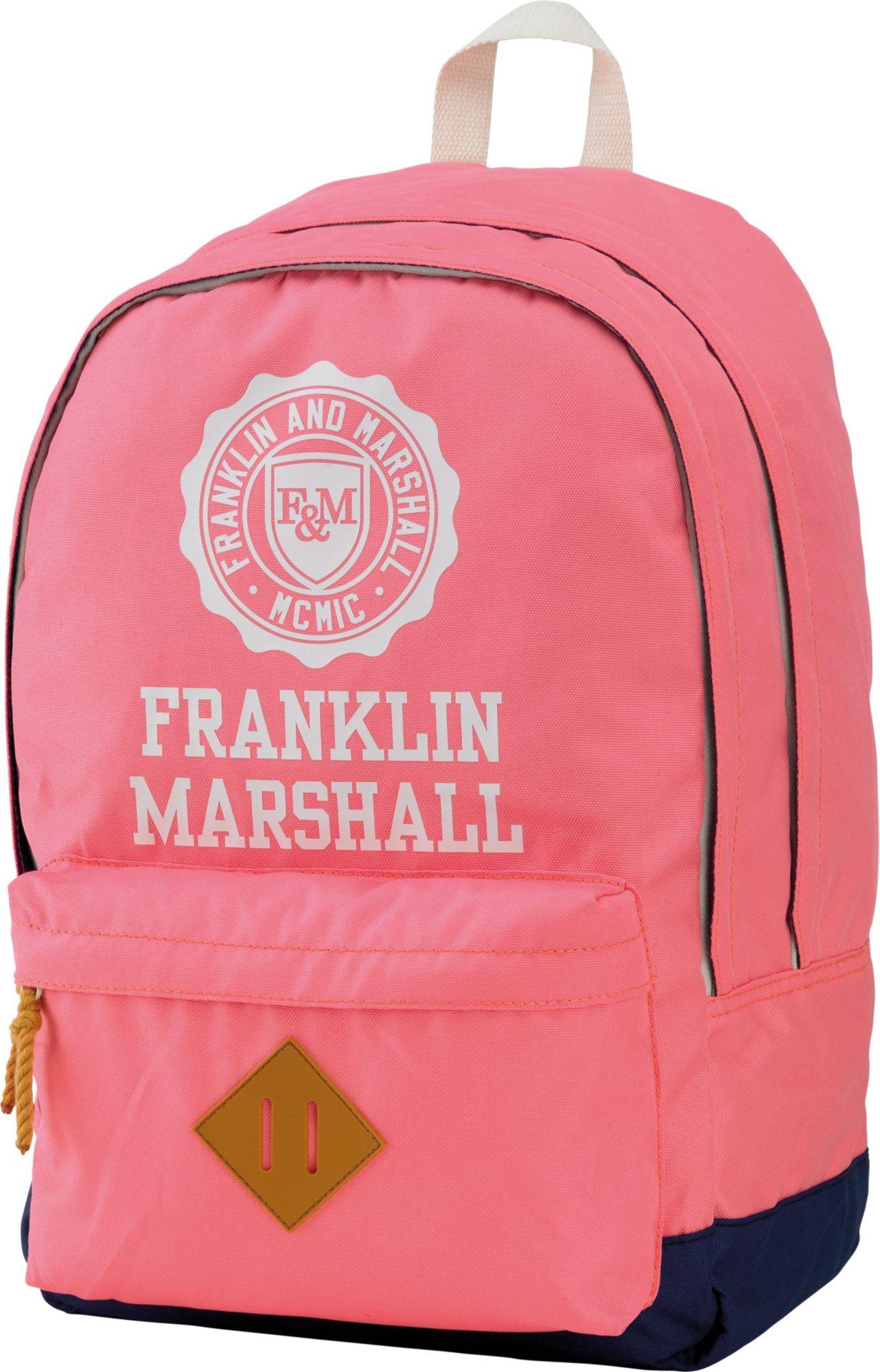 FRANKLIN MARSHALL Franklin & Marshall, Rucksack mit gummiertem Bodenschutz, »Girls Backpack rosa, Vol. 23 Liter«