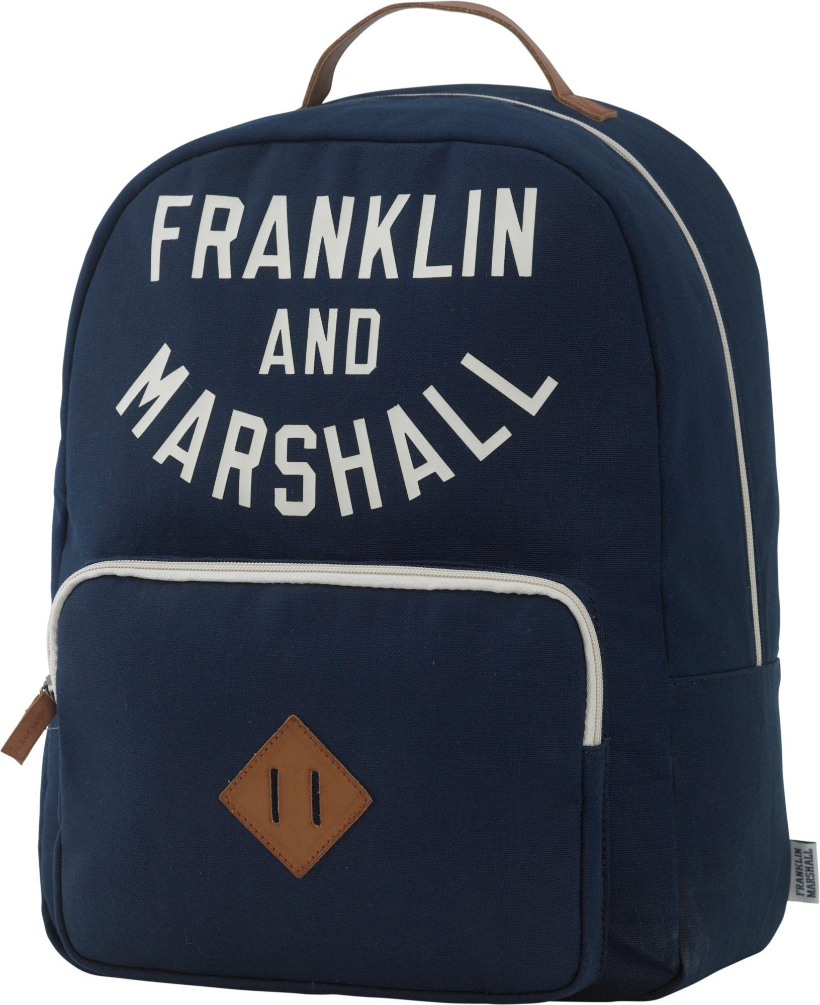 FRANKLIN MARSHALL Franklin & Marshall, Rucksack mit gepolstertem Laptopfach, »Boys Backpack, dunkelblau«