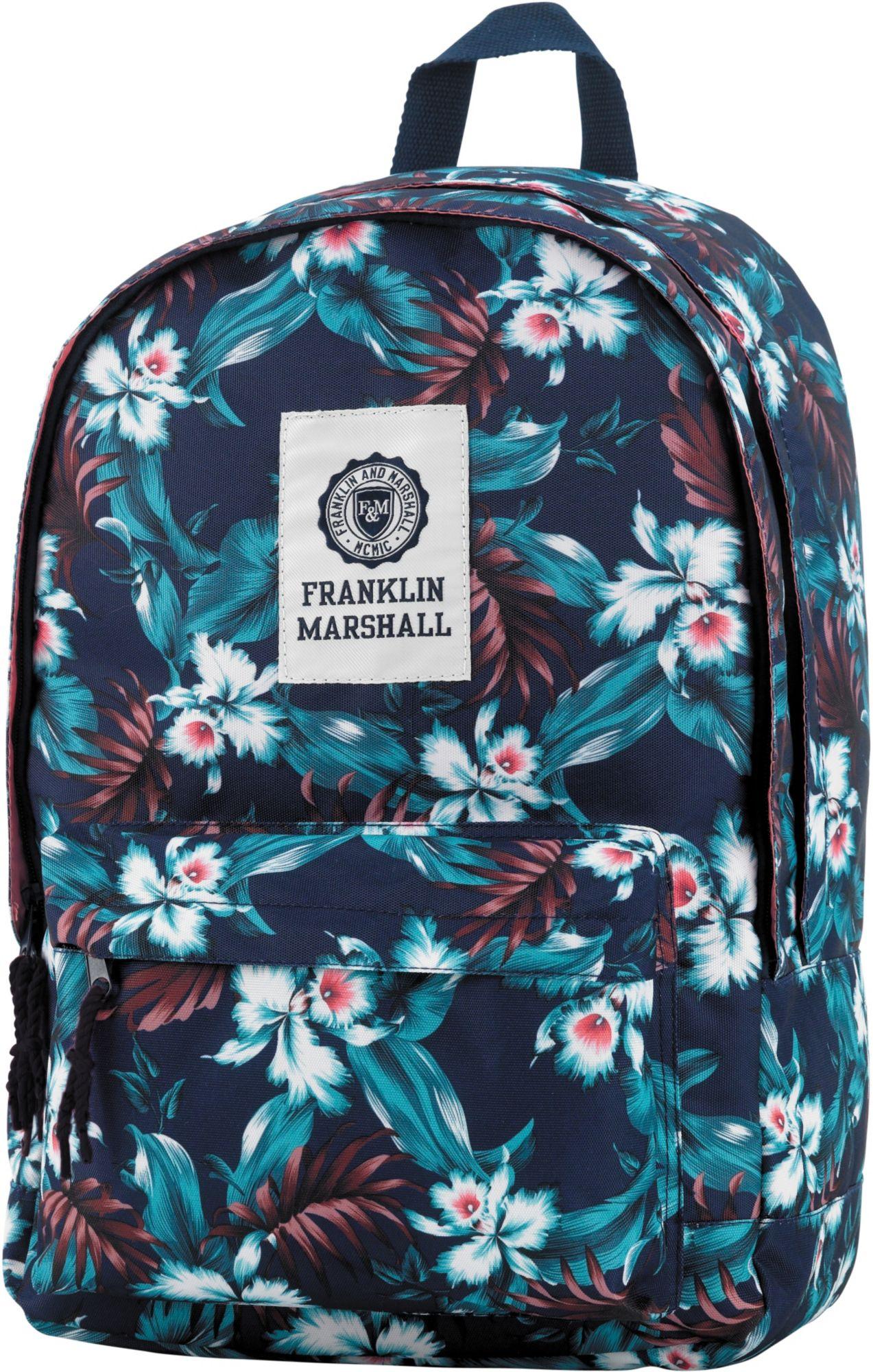 FRANKLIN MARSHALL Franklin & Marshall, Rucksack mit gummiertem Bodenschutz, »Girls Schulrucksack blumen«