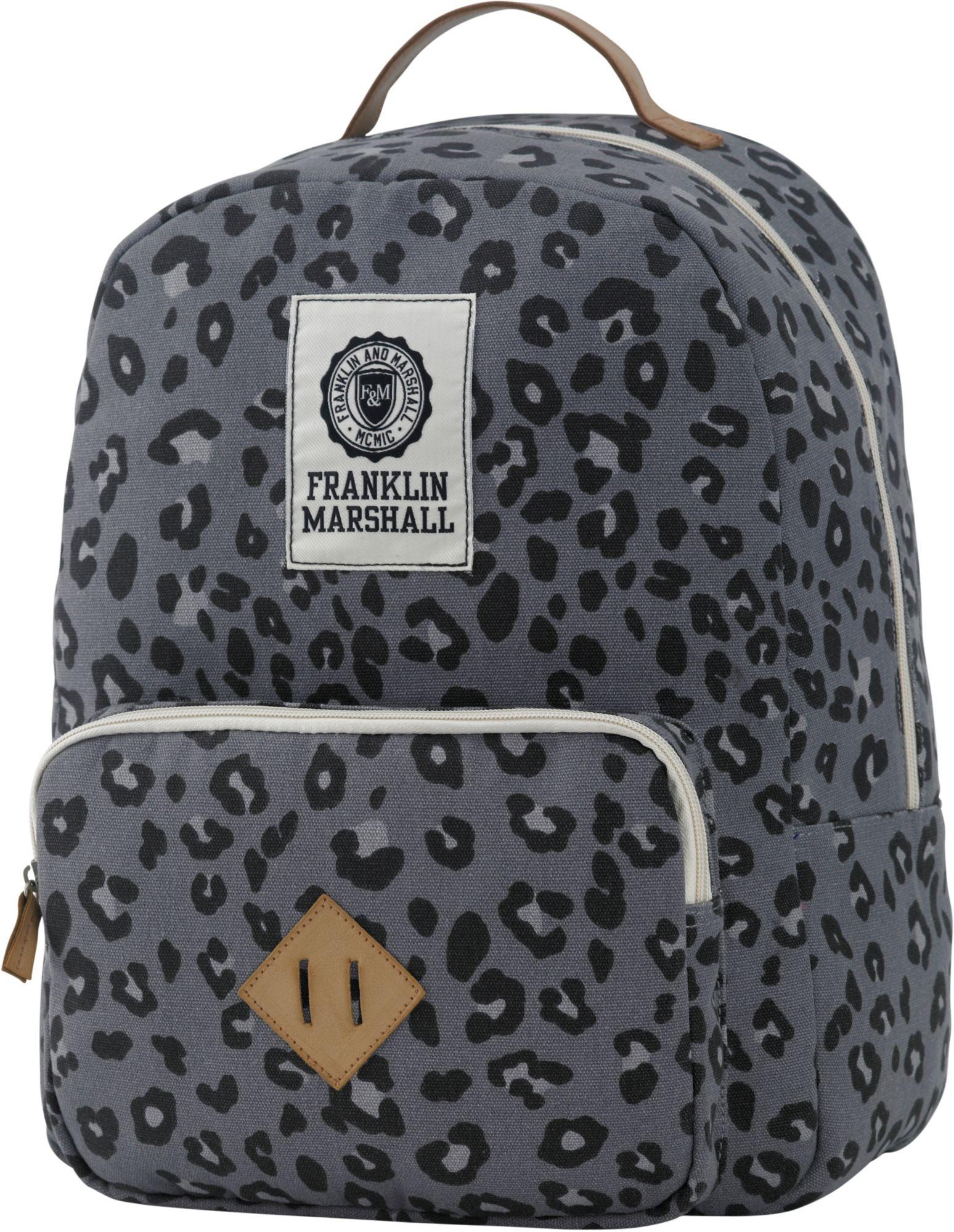 FRANKLIN MARSHALL Franklin & Marshall, Rucksack mit gepolstertem Laptopfach, »Girls Backpack, leopard«