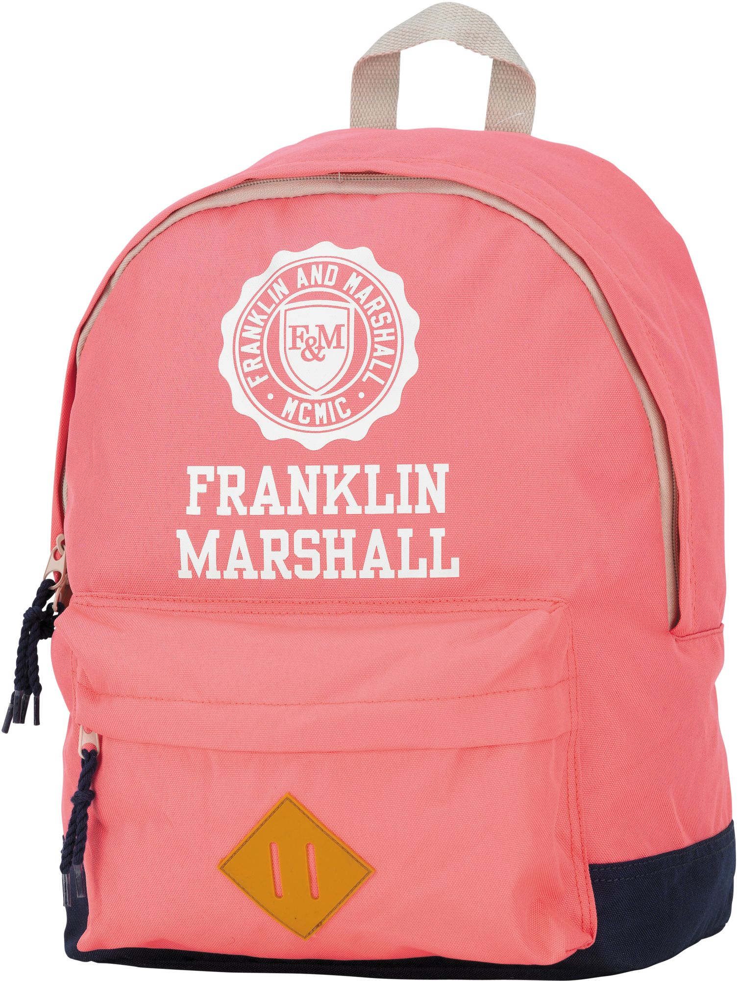 FRANKLIN MARSHALL Franklin & Marshall, Rucksack mit gummiertem Bodenschutz, »Girls Backpack rosa, groß, Vol. 16 Liter«