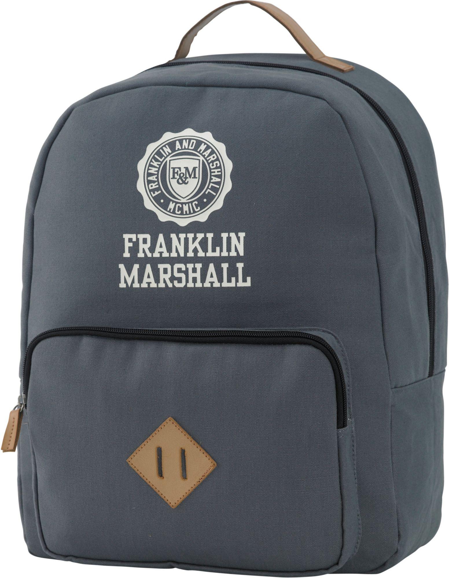 FRANKLIN MARSHALL Franklin & Marshall, Rucksack mit gepolstertem Laptopfach, »Boys Backpack, grau«