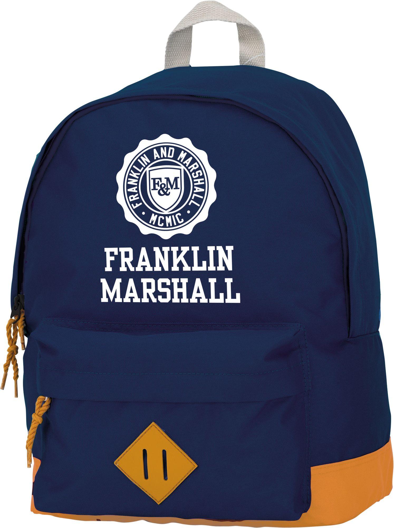 FRANKLIN MARSHALL Franklin & Marshall, Rucksack mit gummiertem Bodenschutz, »Boys Backpack dunkelblau, groß«