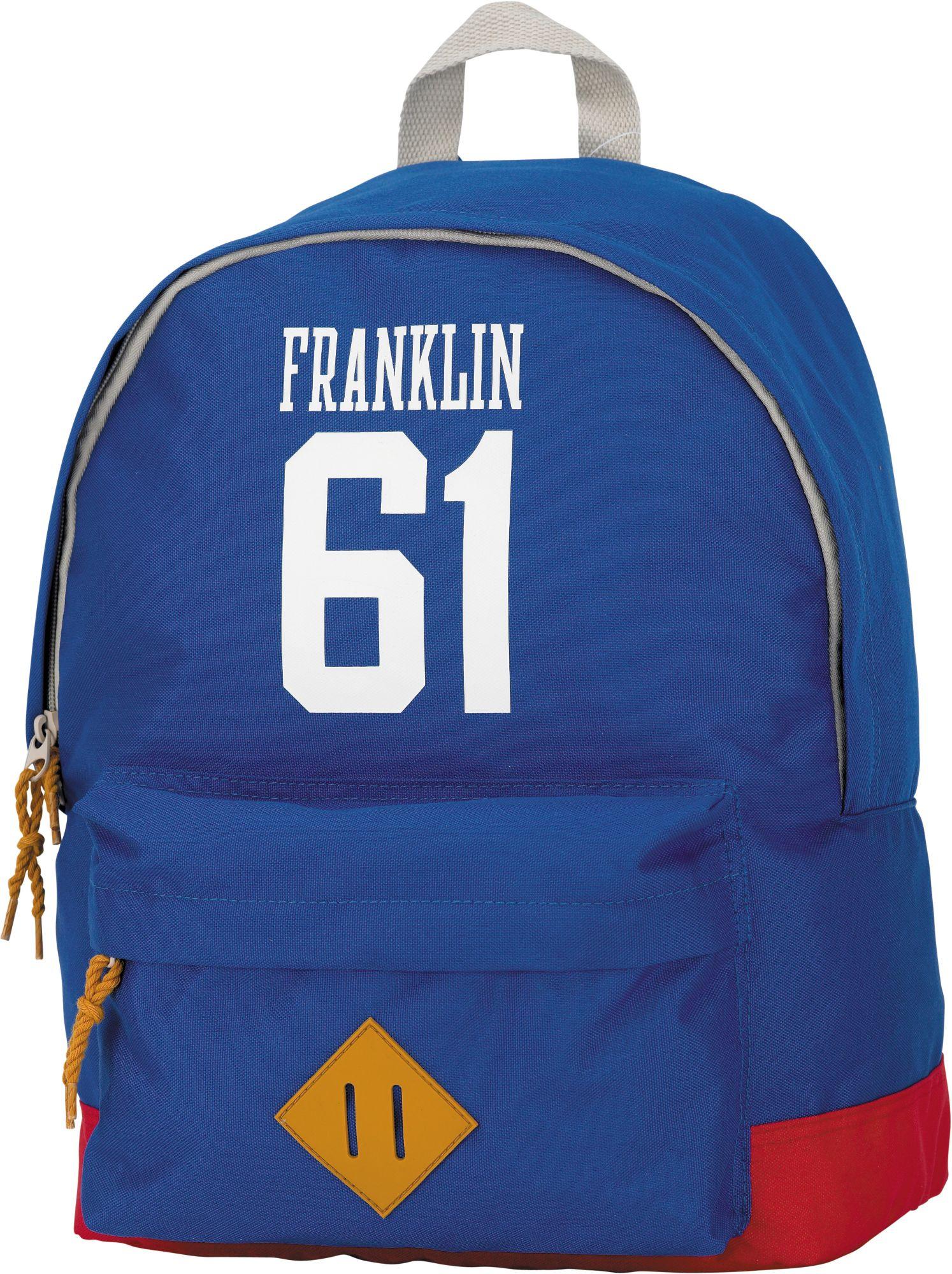 FRANKLIN MARSHALL Franklin & Marshall, Rucksack mit gummiertem Bodenschutz, »Boys Backpack hellblau, groß«