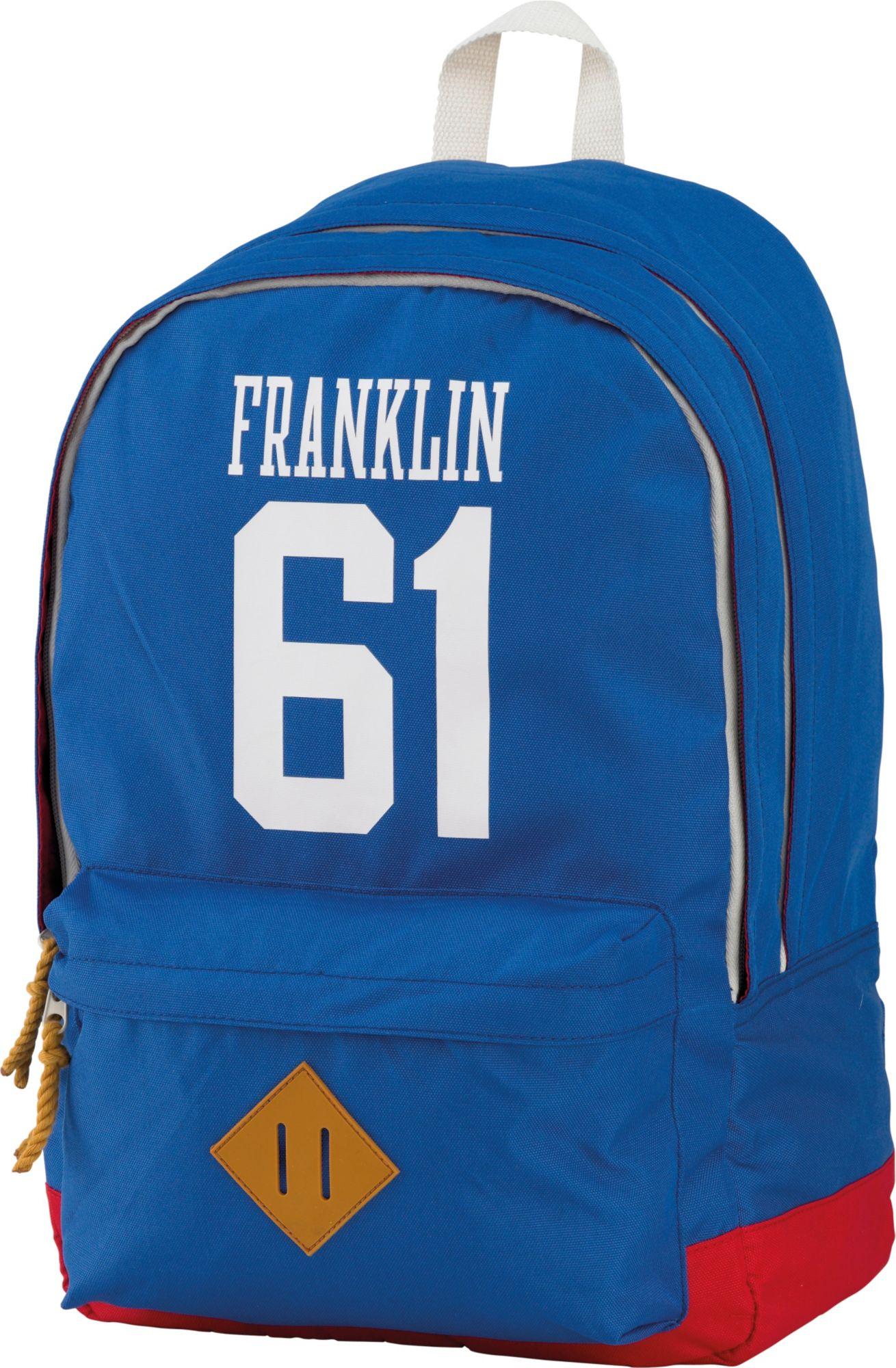 FRANKLIN MARSHALL Franklin & Marshall, Rucksack mit gummiertem Bodenschutz, »Boys Backpack hellblau«