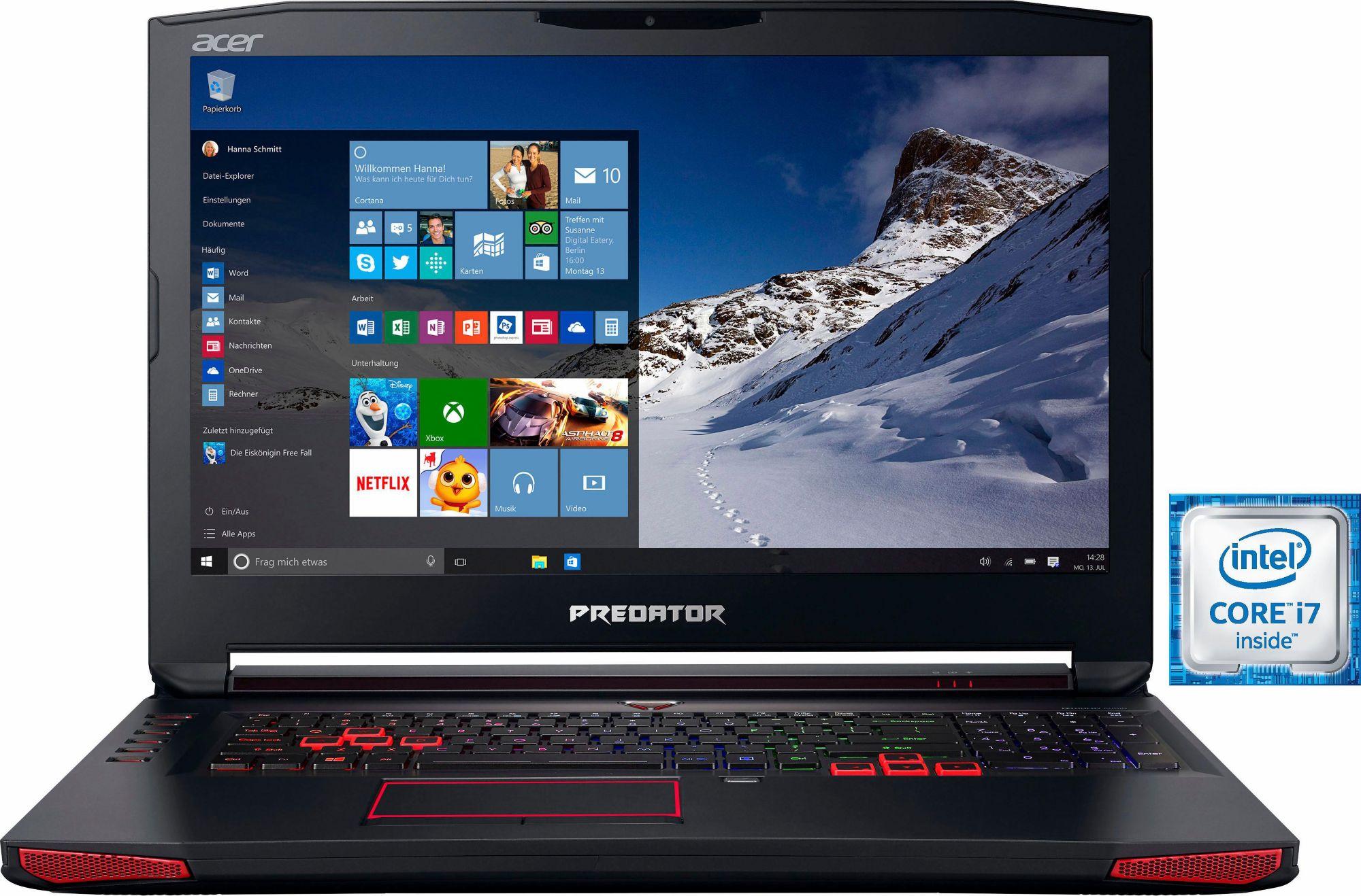 ACER Acer Predator 17 (G9-793-77LN) Notebook, Intel® Core? i7, 43,9 cm (17,3 Zoll), 1512 GB Speicher