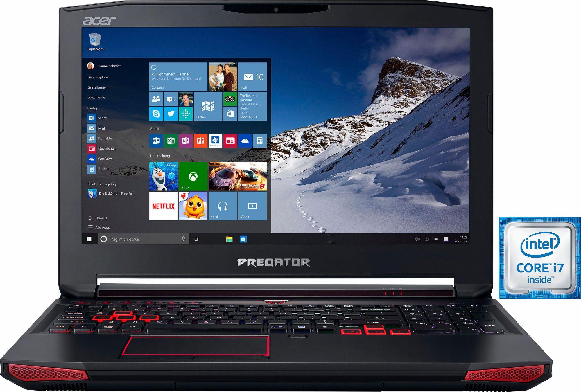 ACER Acer Predator 15 (G9-593-74VX) Notebook, Intel® Core? i7, 39,6 cm (15,6 Zoll), 1256 GB Speicher