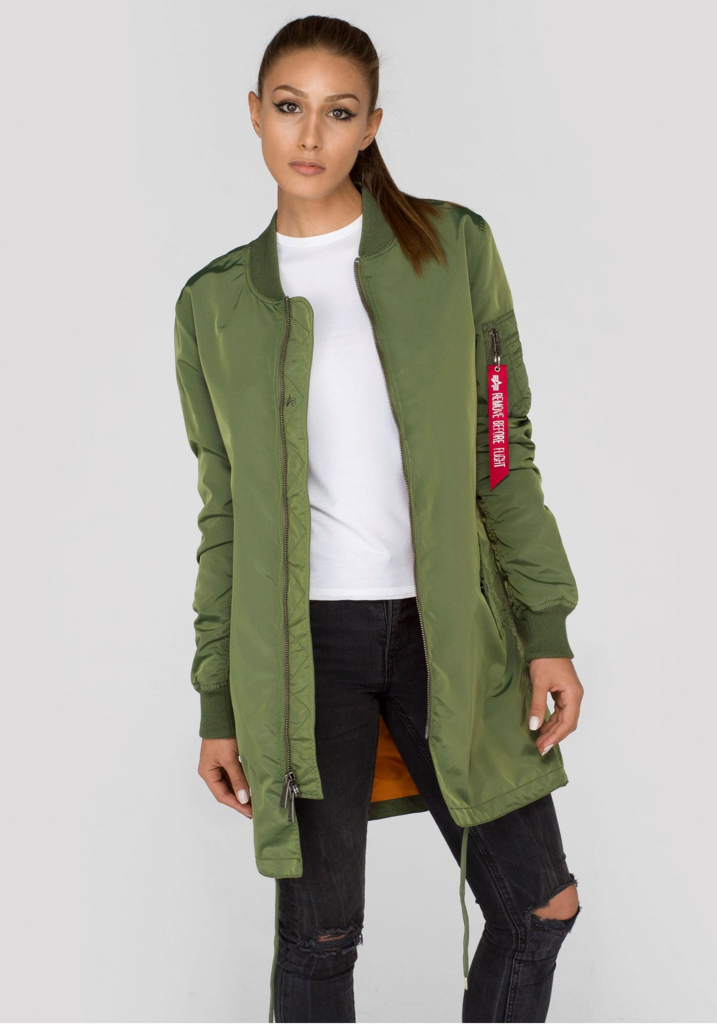 ALPHA INDUSTRIES Alpha Industries Langjacke »MA-1 TT Coat Wmn«