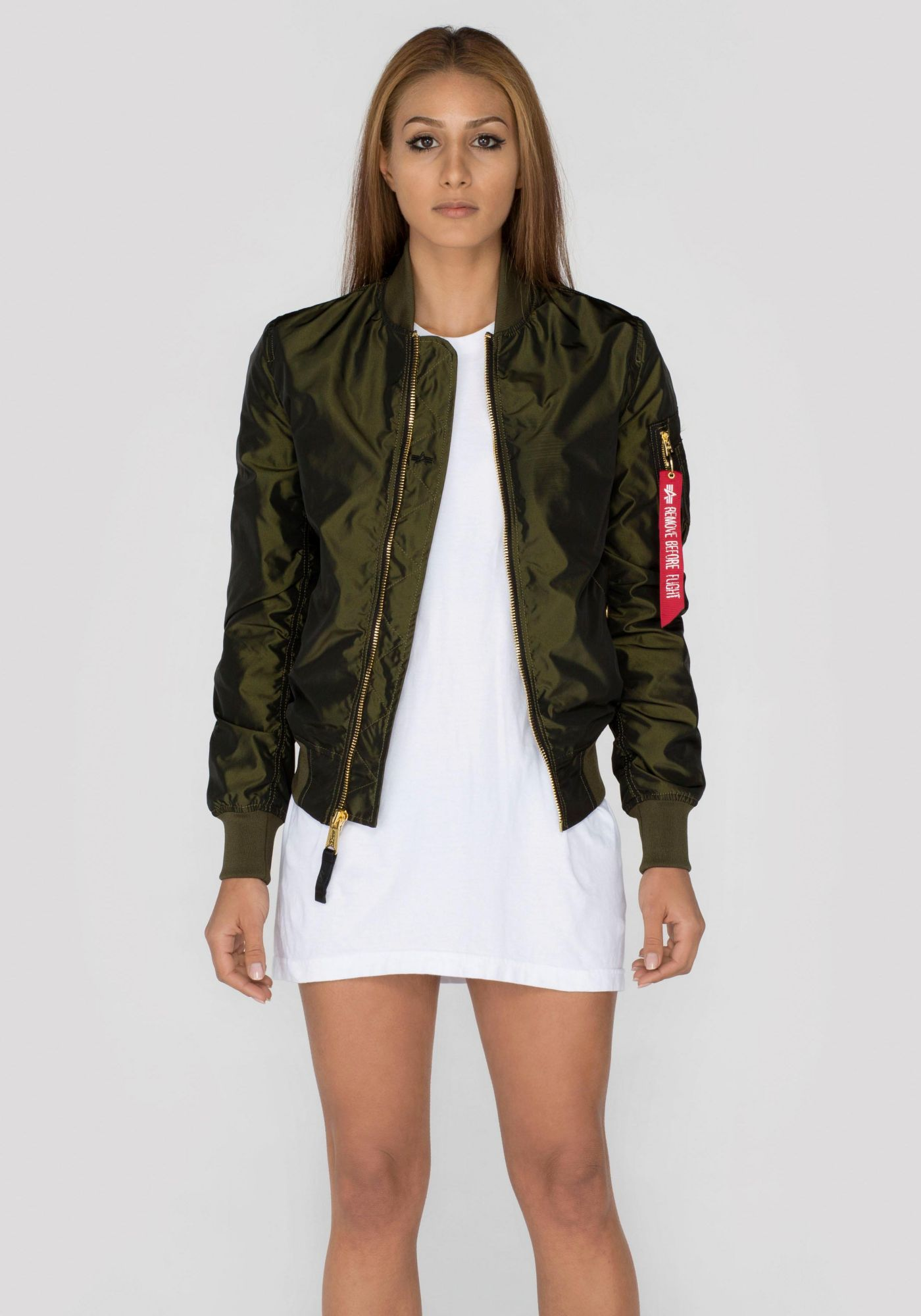 ALPHA INDUSTRIES Alpha Industries Bomberjacke »MA-1 LW PM Iridium Wmn«