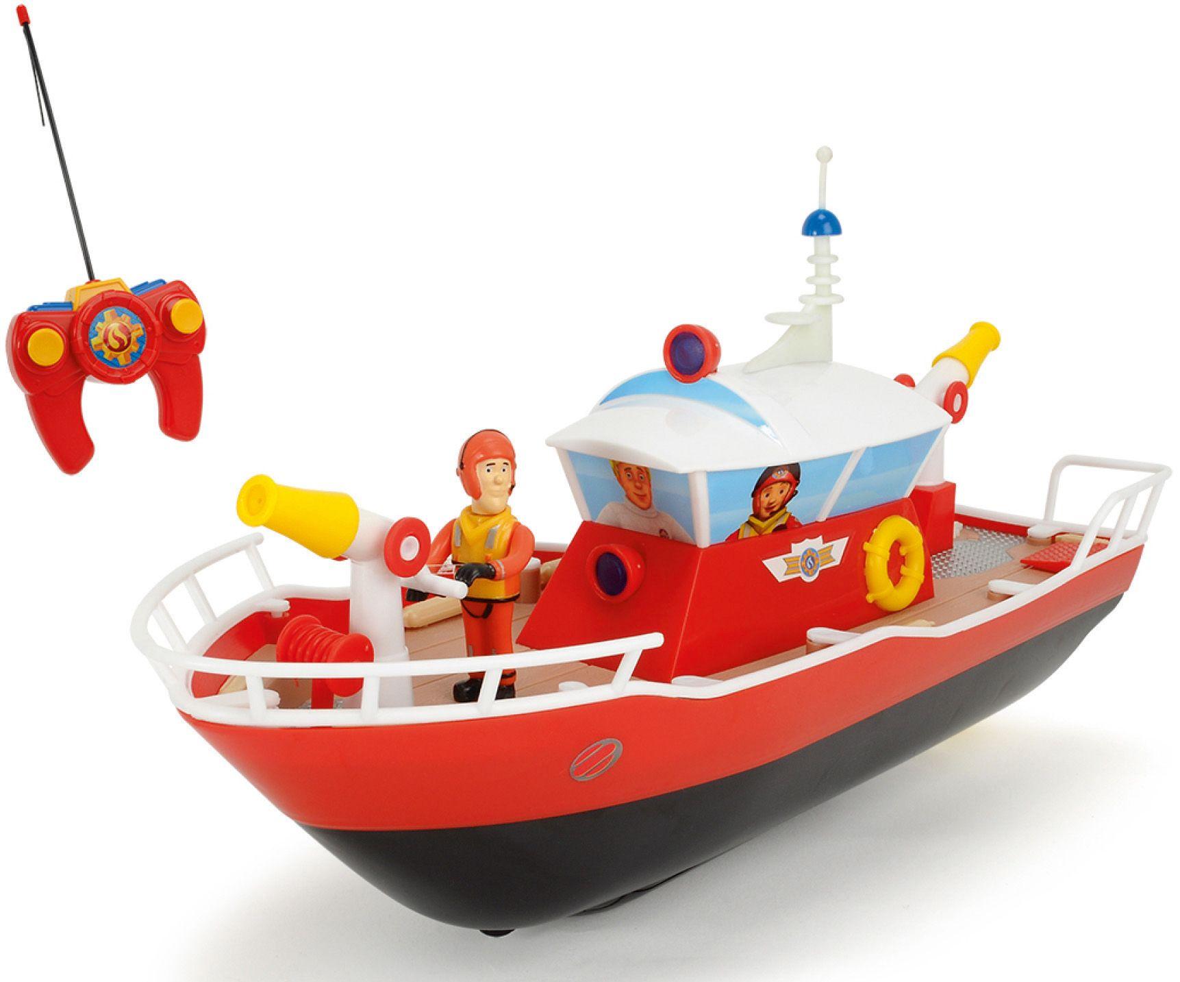 DICKIE TOYS Dickie Toys RC Boot mit Wasserkanone und Licht, »Feuerwehrmann Sam Titan 27 MHz 1:16«