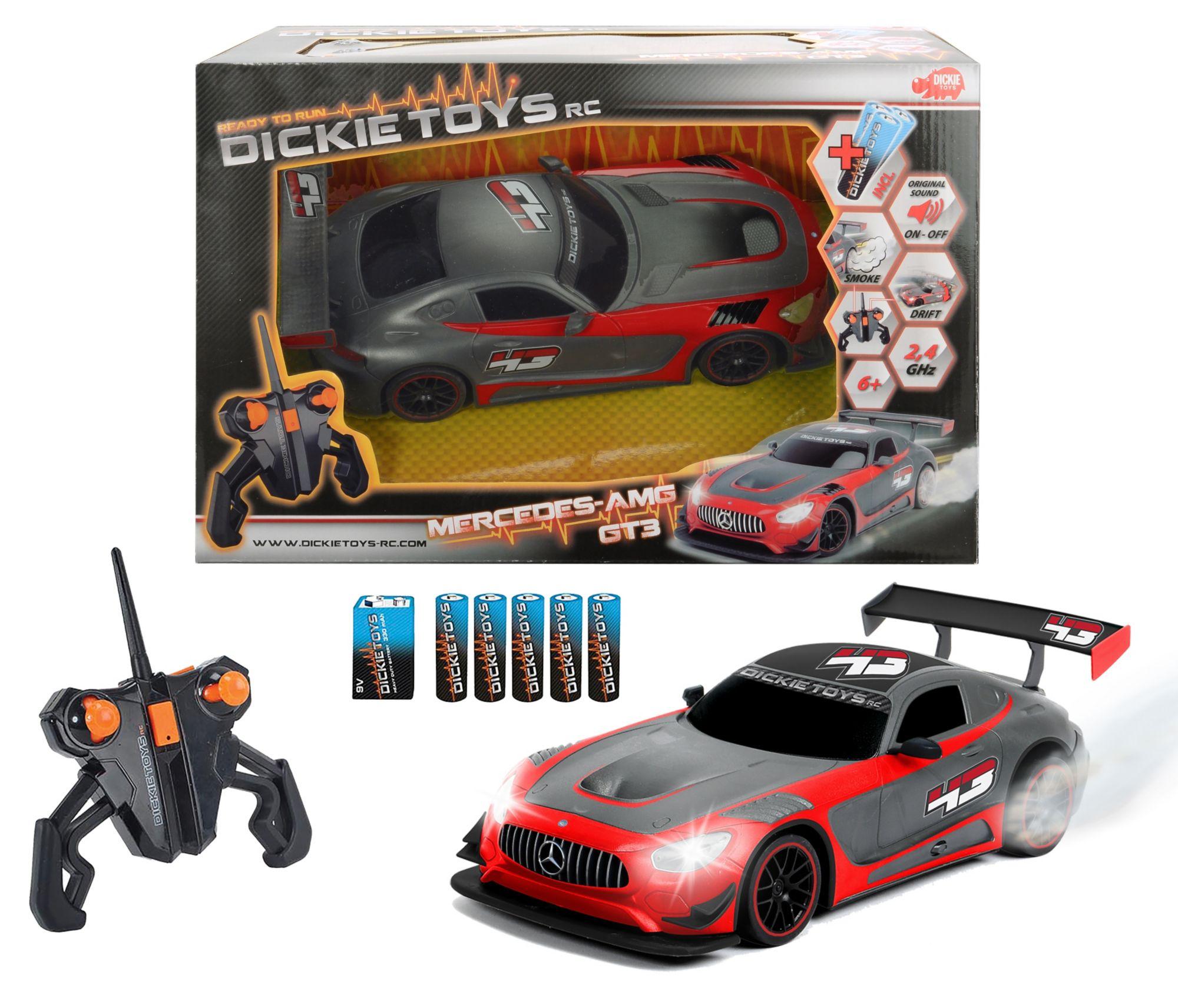 DICKIE TOYS Dickie Toys RC Komplett Set, »Mercedes AMG GT3 2,4 GHz 1:16 Grau«