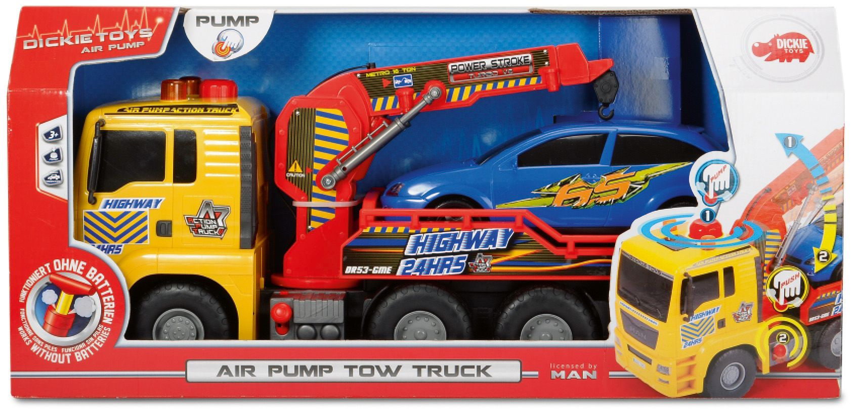 DICKIE TOYS Dickie Toys LKW, »Air Pump Tow Truck«