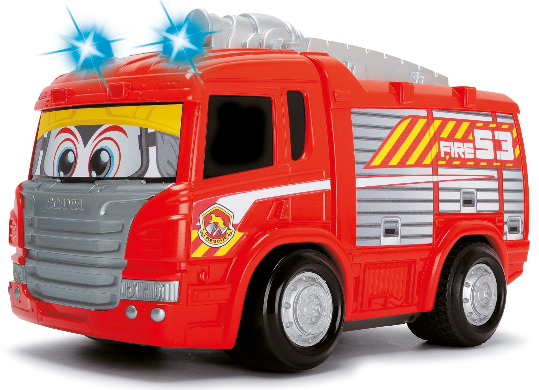 DICKIE TOYS Dickie Toys RC Feuerwehrauto mit Licht und Sound, »Happy Scania Fire Engine«