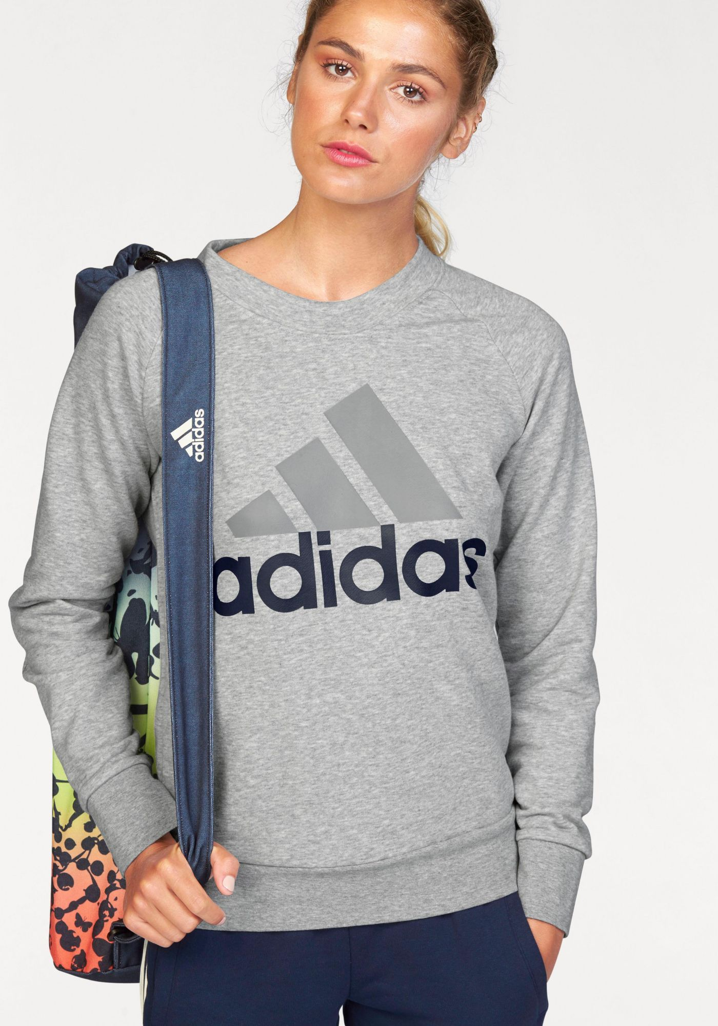 ADIDAS PERFORMANCE adidas Performance Sweatshirt »ESSENTIALS LINEAR CREWNECK SWEATSHIRT«