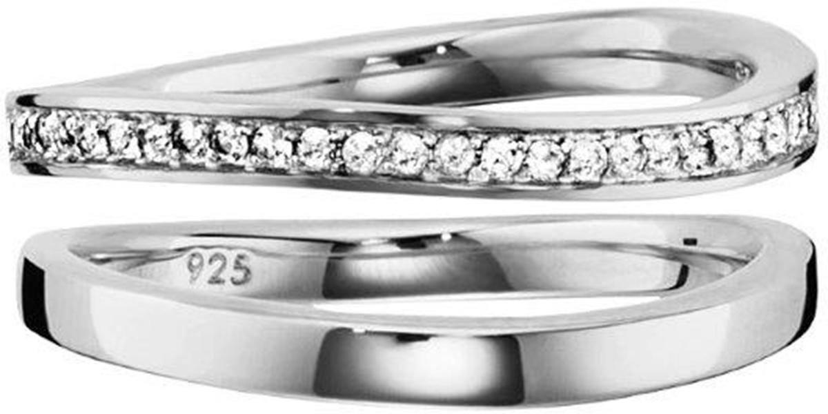 CAÏ 2tlg. Ring-Set CAI Weiß