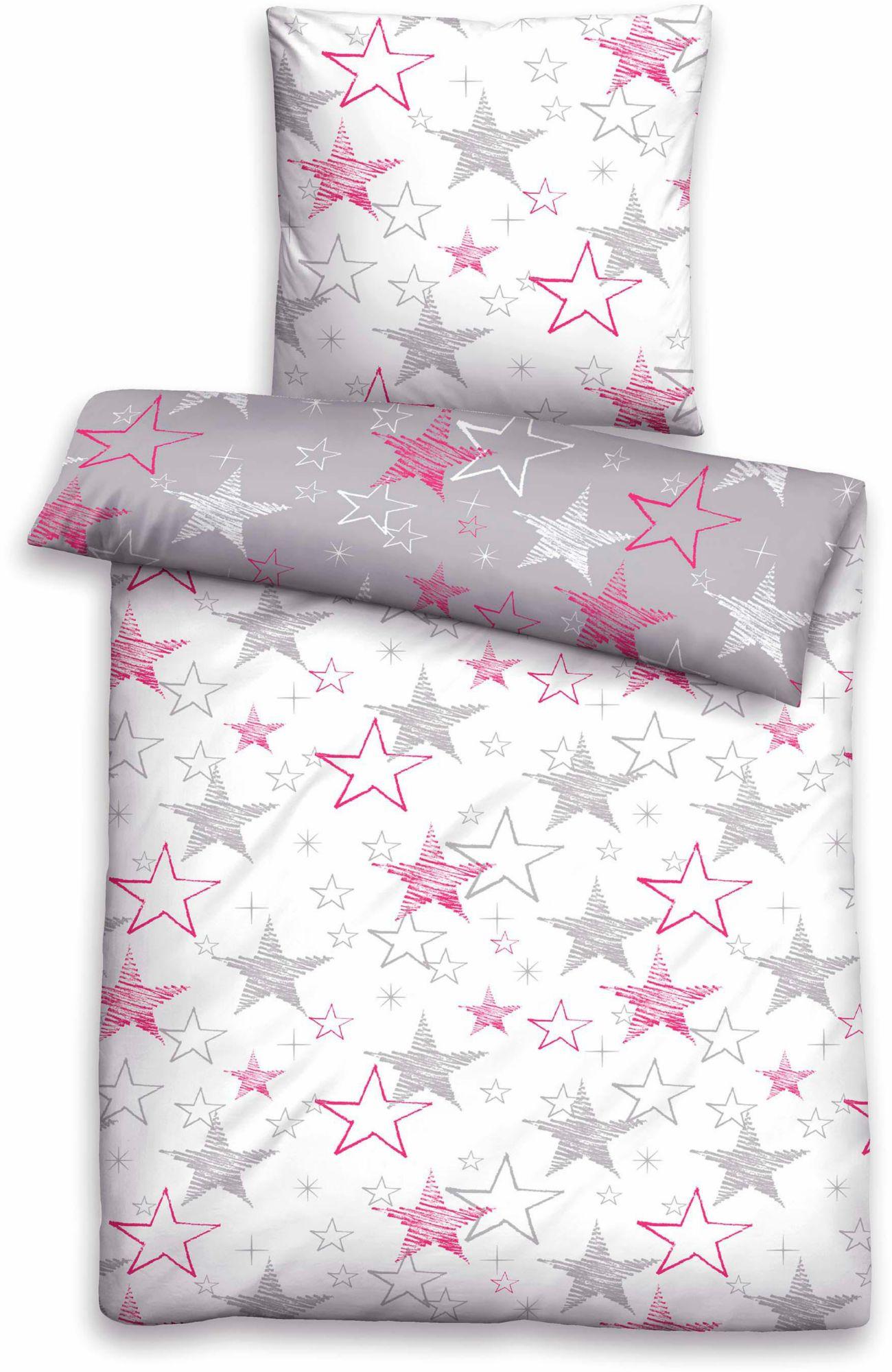 BIBERNA Bettwäsche, Biberna, »Shining«, mit vielen Sternen
