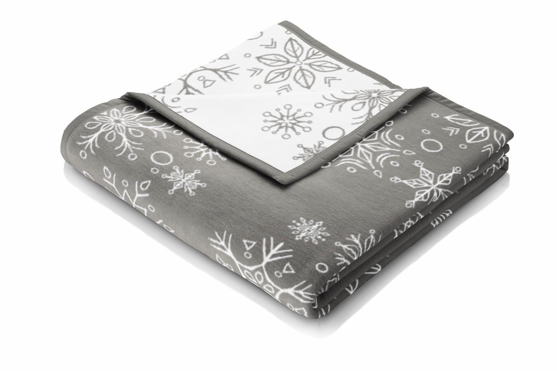BIEDERLACK Wohndecke, Biederlack, »Big Snowflakes«, im zauberhaften Winter Design