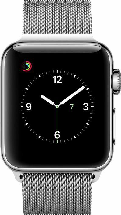 APPLE Apple Watch S2 Edelstahlgehäuse 38mm Milanaise Armband