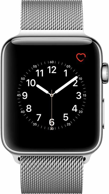 APPLE Apple Watch S2 Edelstahlgehäuse 42mm Milanaise Armband