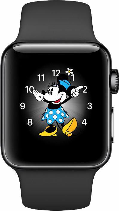 APPLE Apple Watch S2 Edelstahlgehäuse 38mm mit Sportarmband