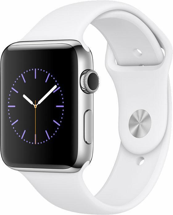 APPLE Apple Watch S2 Edelstahlgehäuse 42mm mit Sportarmband