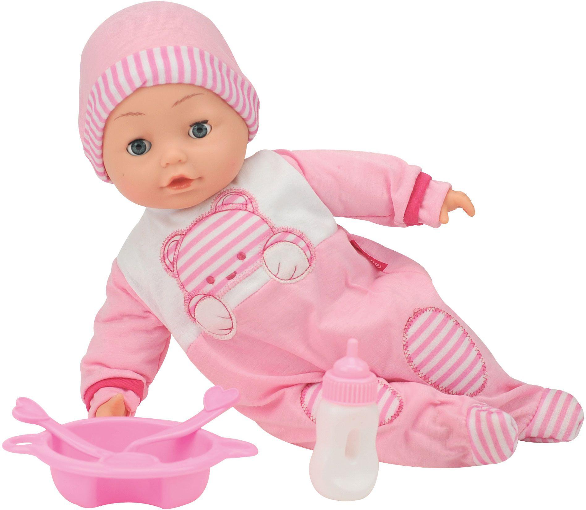 DIMIAN Dimian Babypuppe mit Sprachfunktion und Schlafaugen, »Bambolina Camelia Puppe«