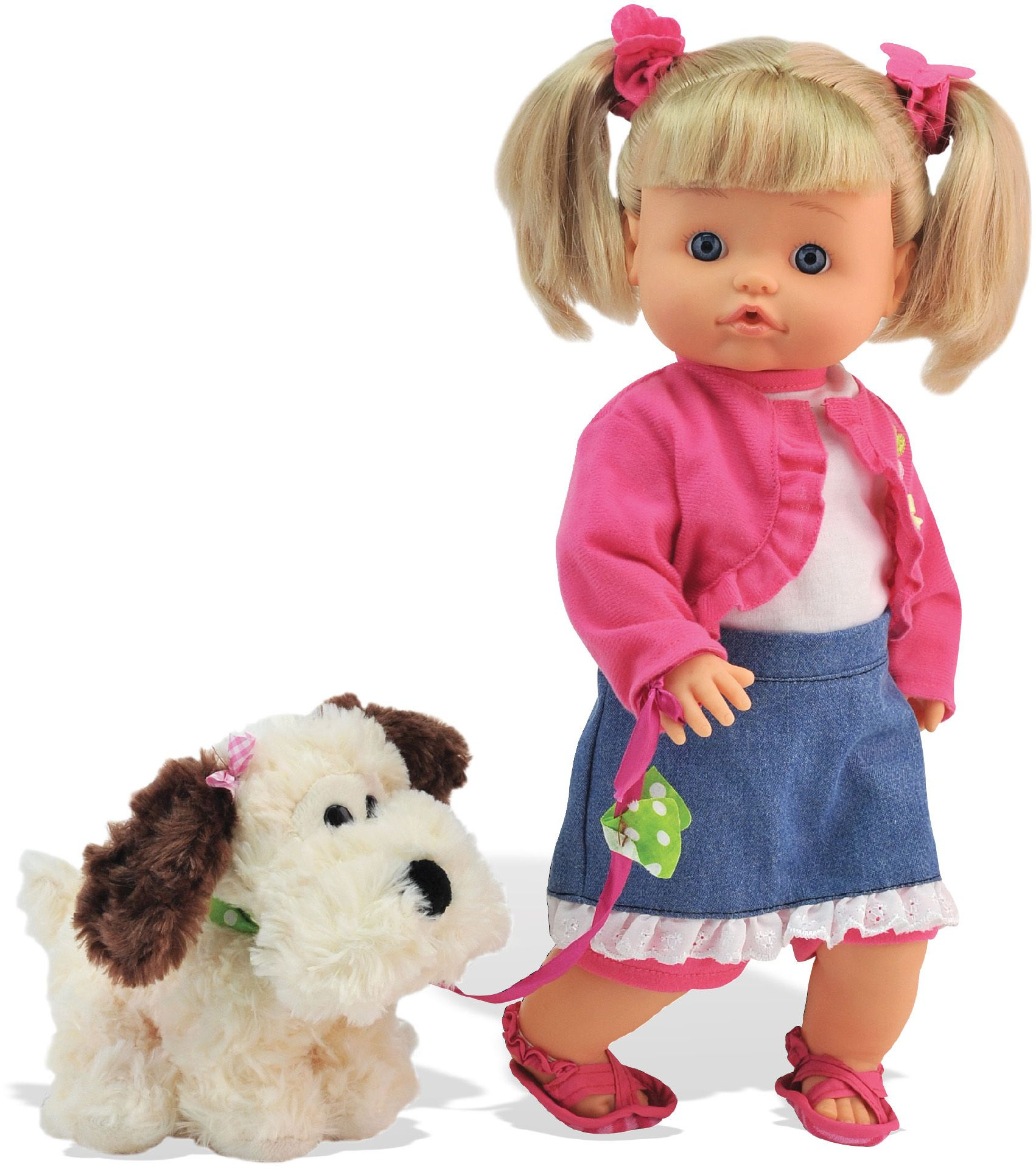 DIMIAN Dimian Puppe mit Stofftier Hund, »Bambolina Nena Pipì Popò Puppe«