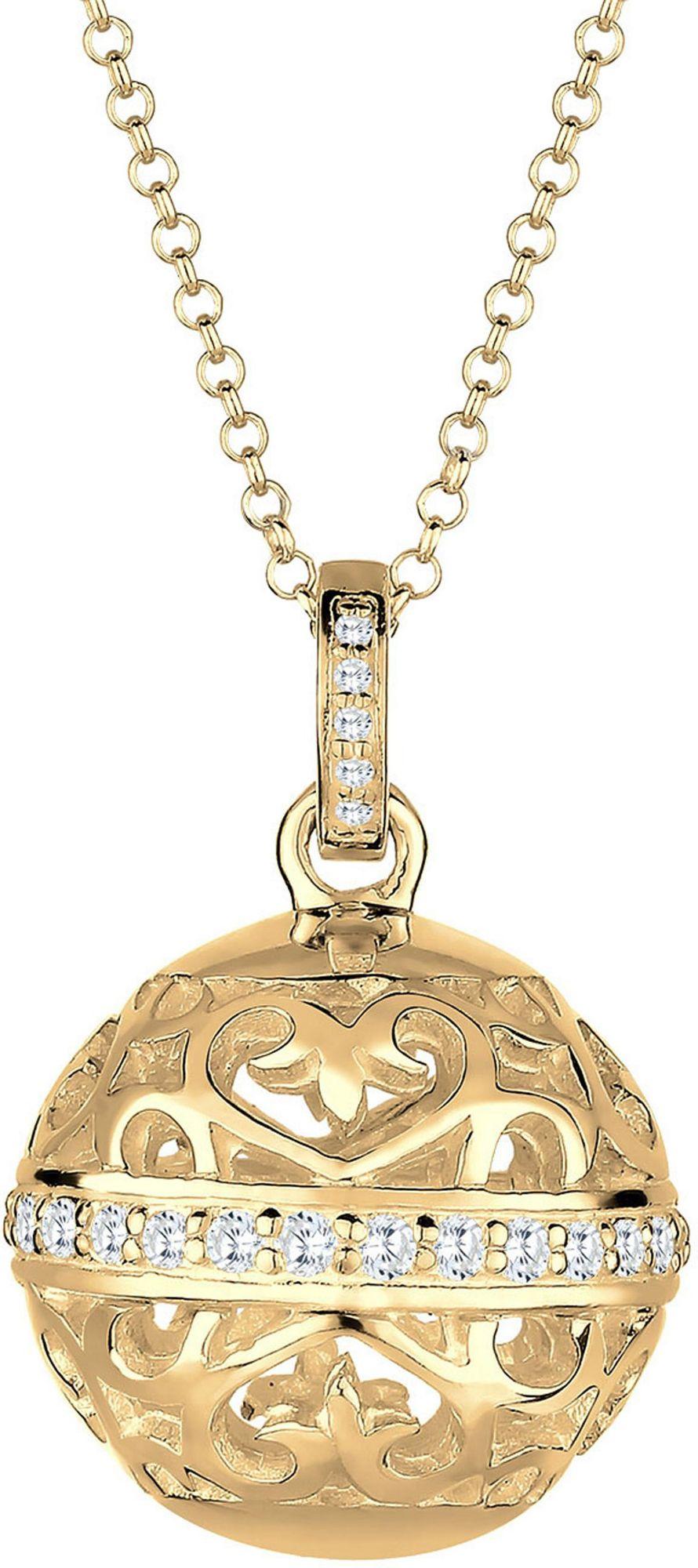 ELLI PREMIUM Elli Premium Kette mit Anhänger »Ornament, Elli PREMIUM, 0103581715«