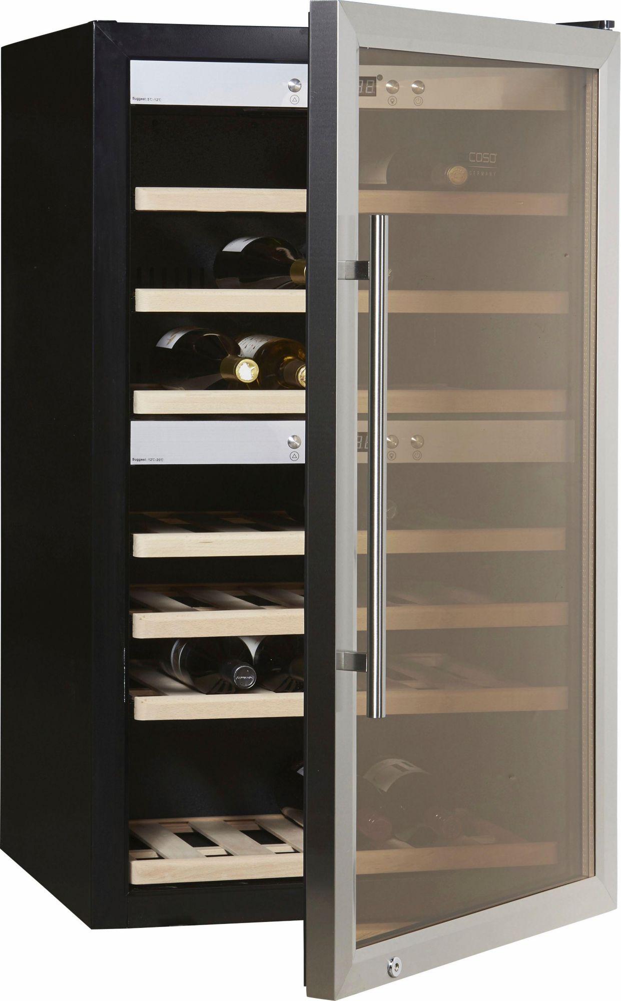 CASO DESIGN CASO Design Weinkühlschrank »WineMaster 66«, Höhe 102 cm, für 66 Bordeauxflaschen á 0,75l