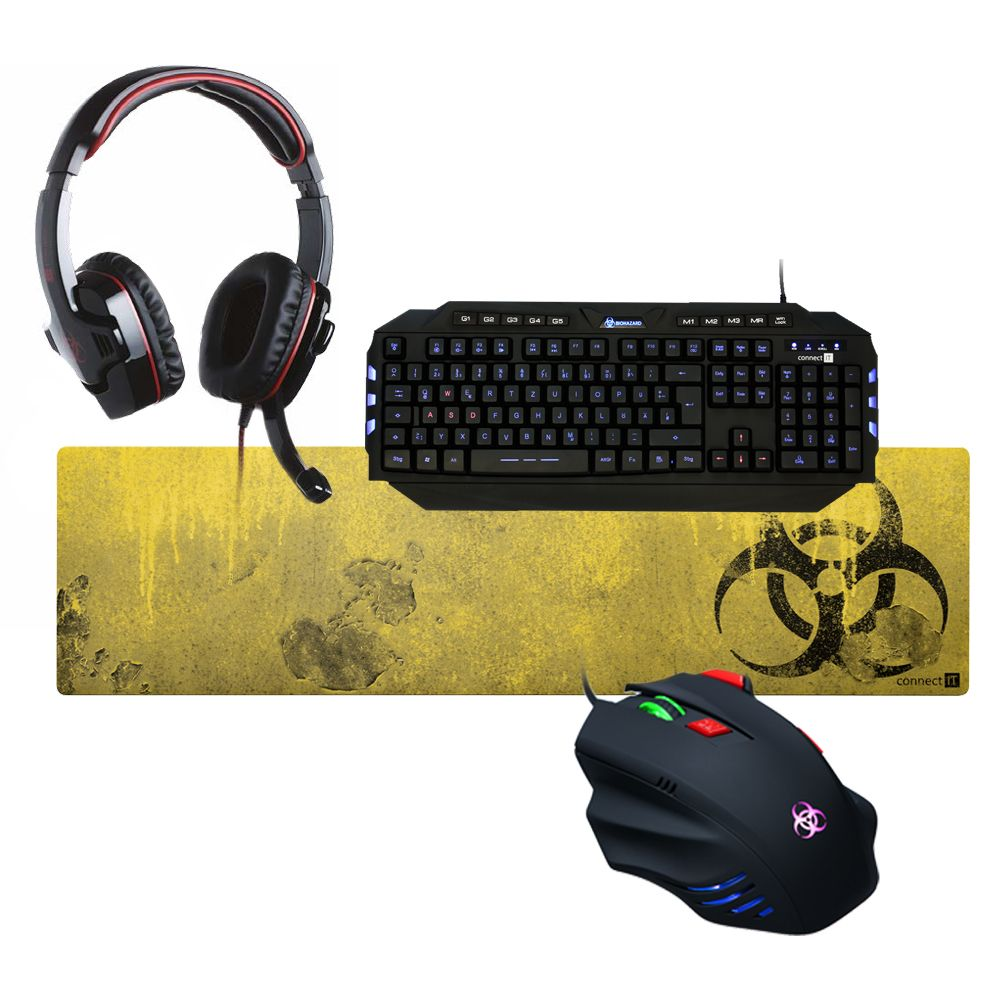 CONNECT IT connect IT Gaming »connect IT BIOHAZARD Combo Elite Tastatur Mouse He«