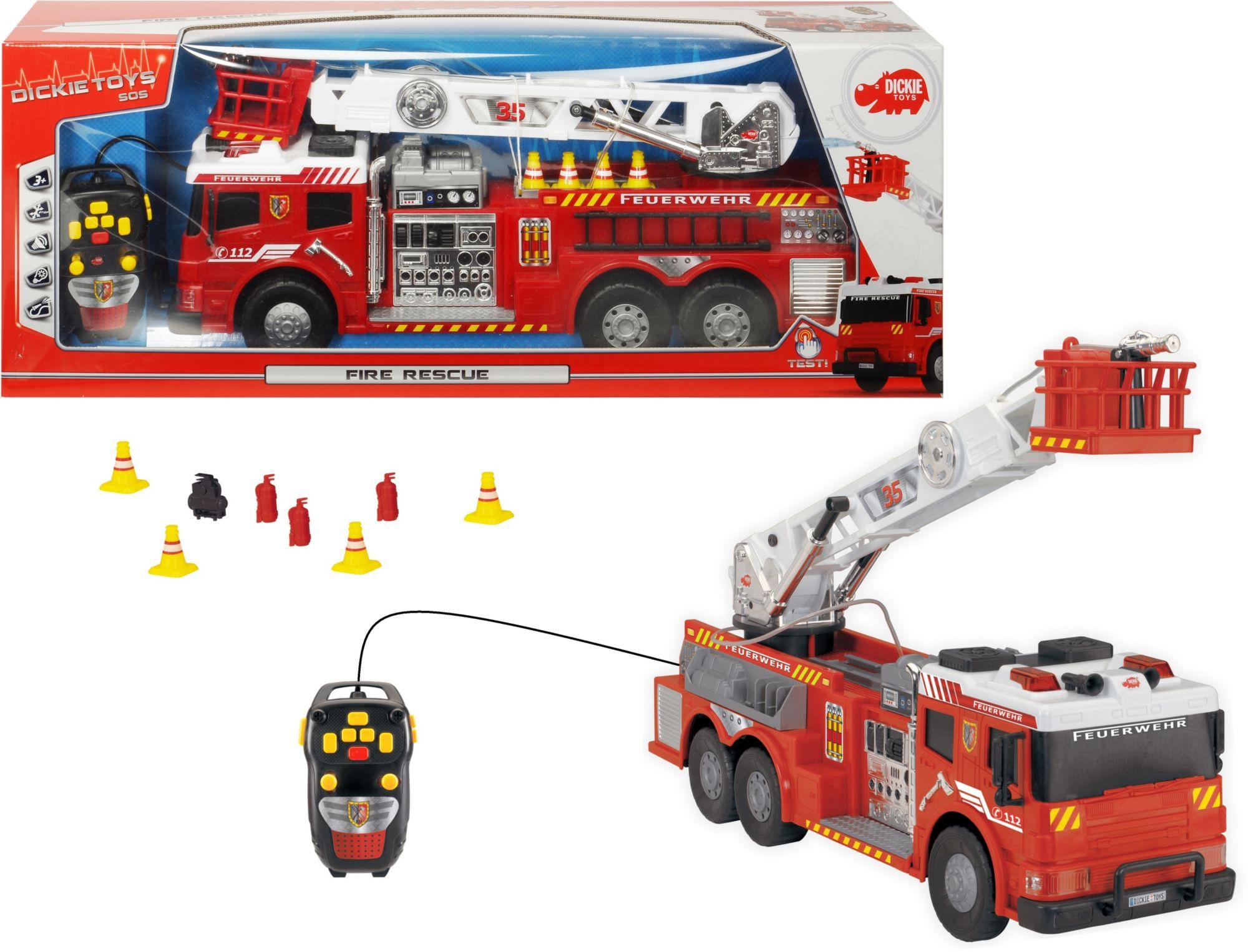 DICKIE TOYS Dickie Toys Kabelgesteuertes Feuerwehrauto mit Wasserspritze, »Fire Rescue«