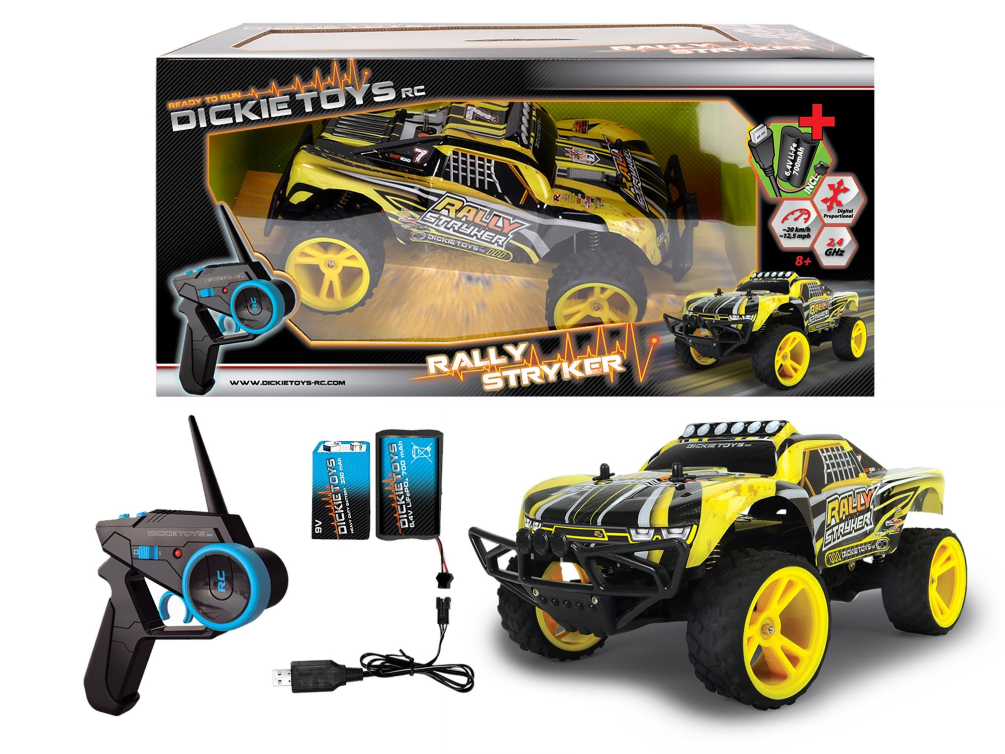 DICKIE TOYS Dickie Toys RC Komplett Set, »Rally Stryker 2,4 GHz 1:12«