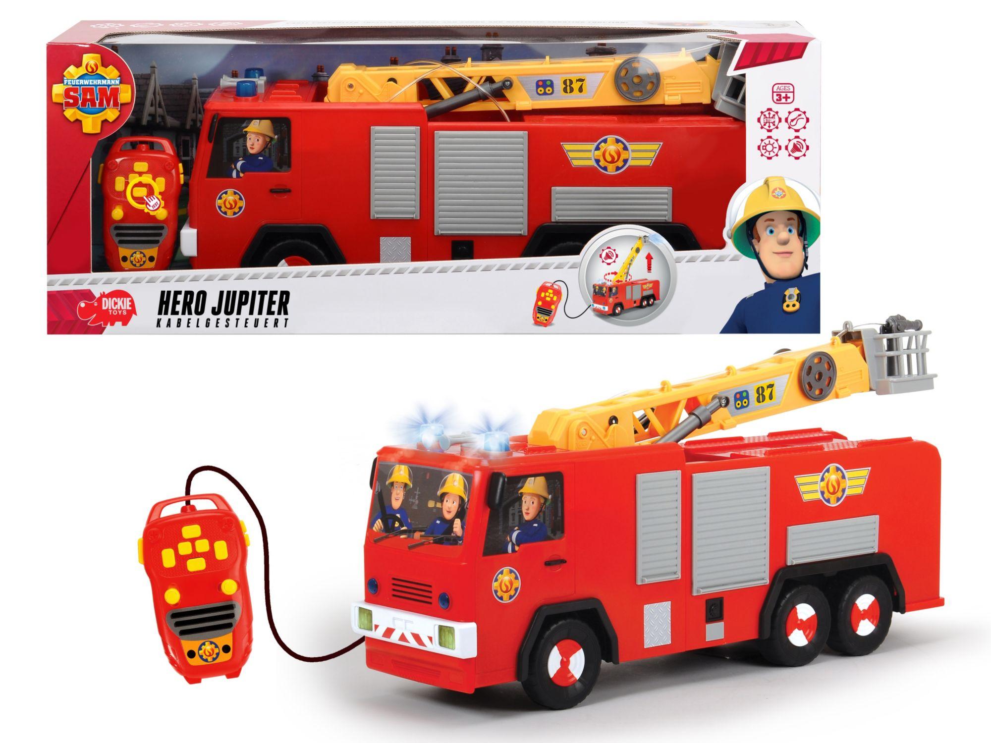 DICKIE TOYS Dickie Toys Kabelgesteuertes Feuerwehrauto mit Wasserspritze, »Feuerwehrmann Sam, Hero Jupiter«