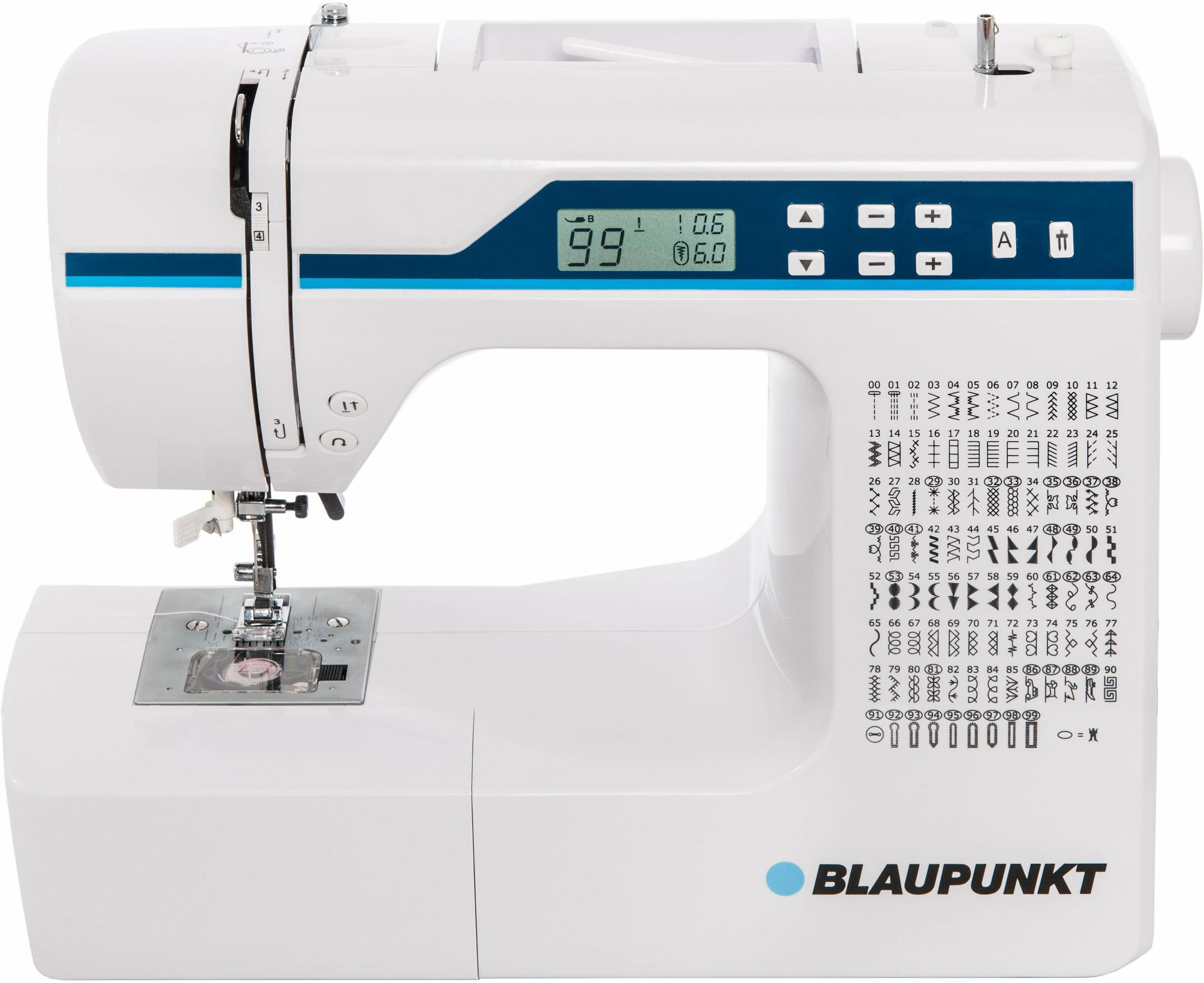 BLAUPUNKT Blaupunkt Nähmaschine Comfort 930, 200 Stichprogramme, mit Zubehör
